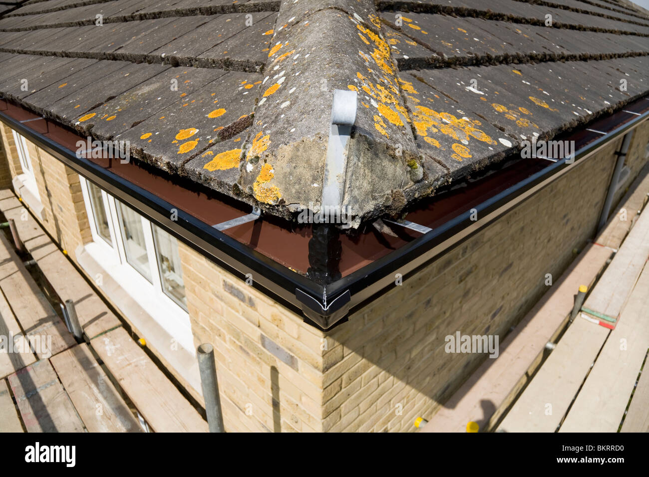 Corner Of Roofs And Gutter Guttering And Roof Ridge Tile