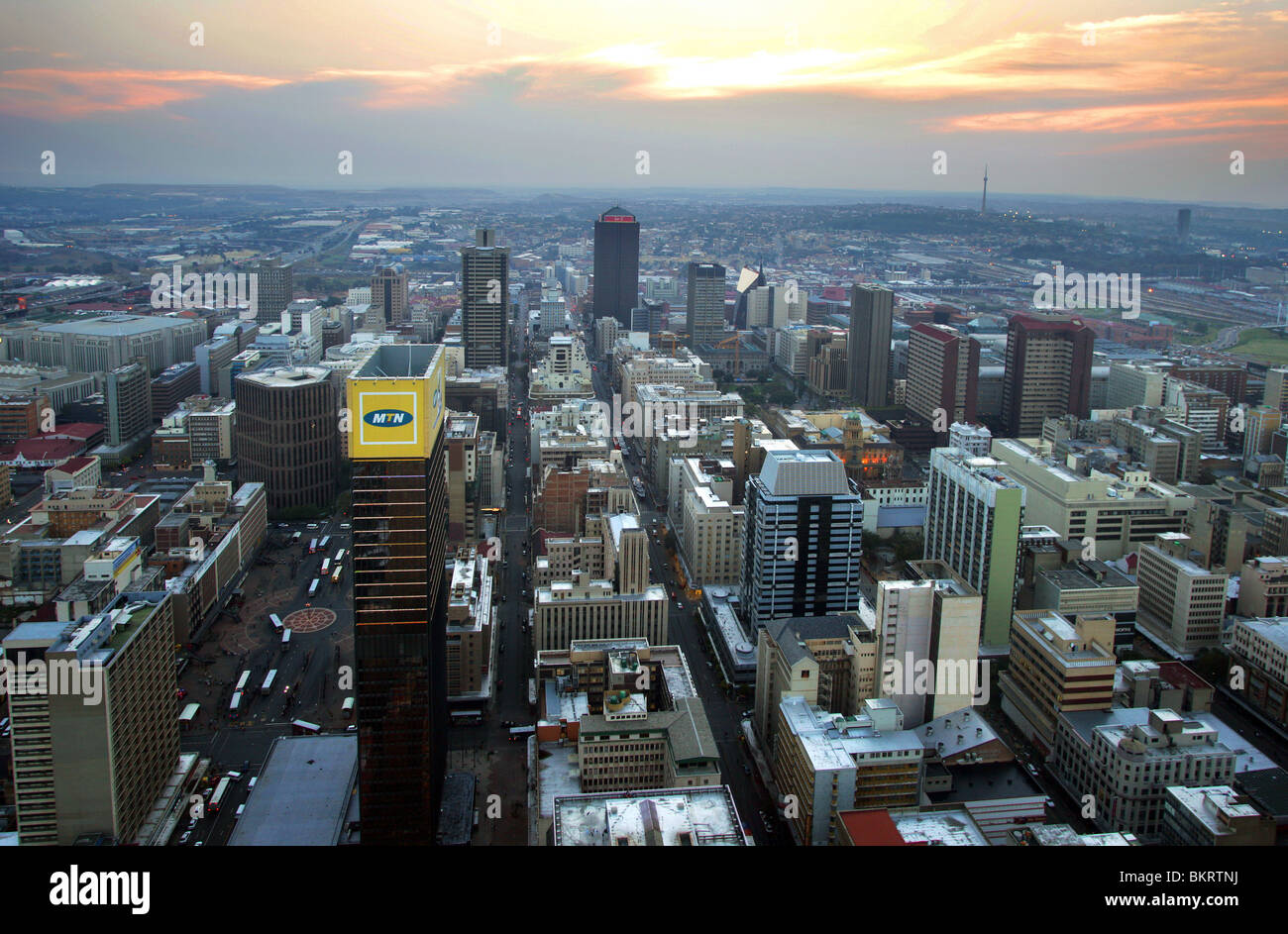 Look at Johannesburg, South Africa - Stock Image
