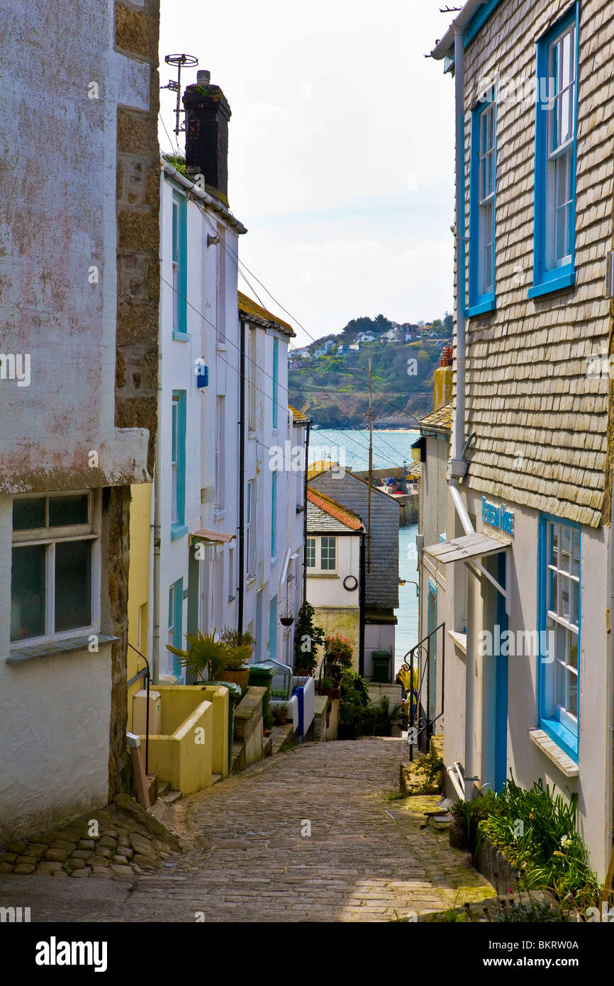 Fishermans Cottages and Holiday homes in St Ives Cornwall - Stock Image