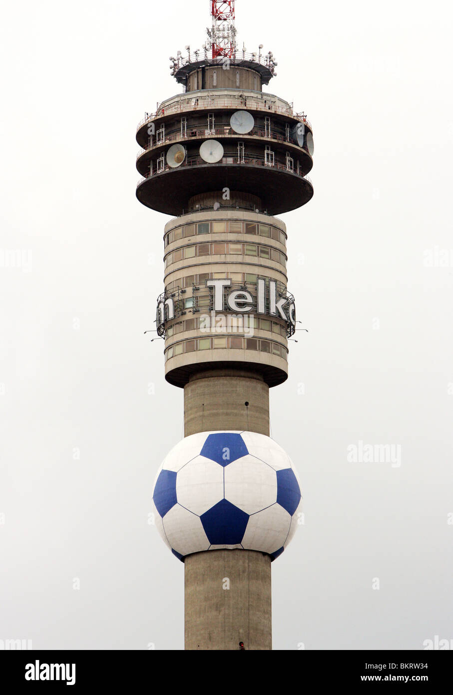 Hillbrow Tower in Johannesburg, South Africa - Stock Image
