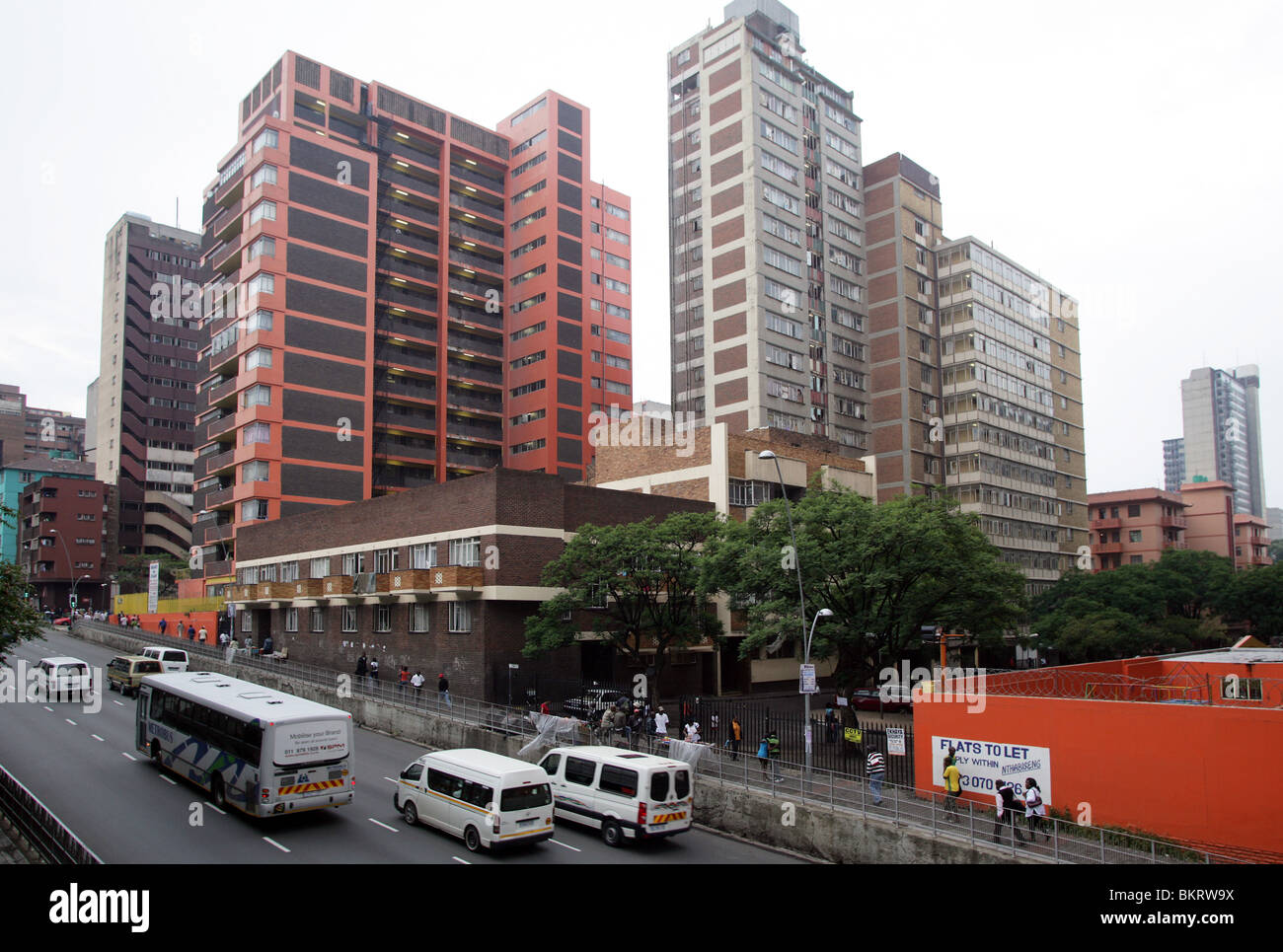 District Hillbrow in Johannesburg, South Africa - Stock Image