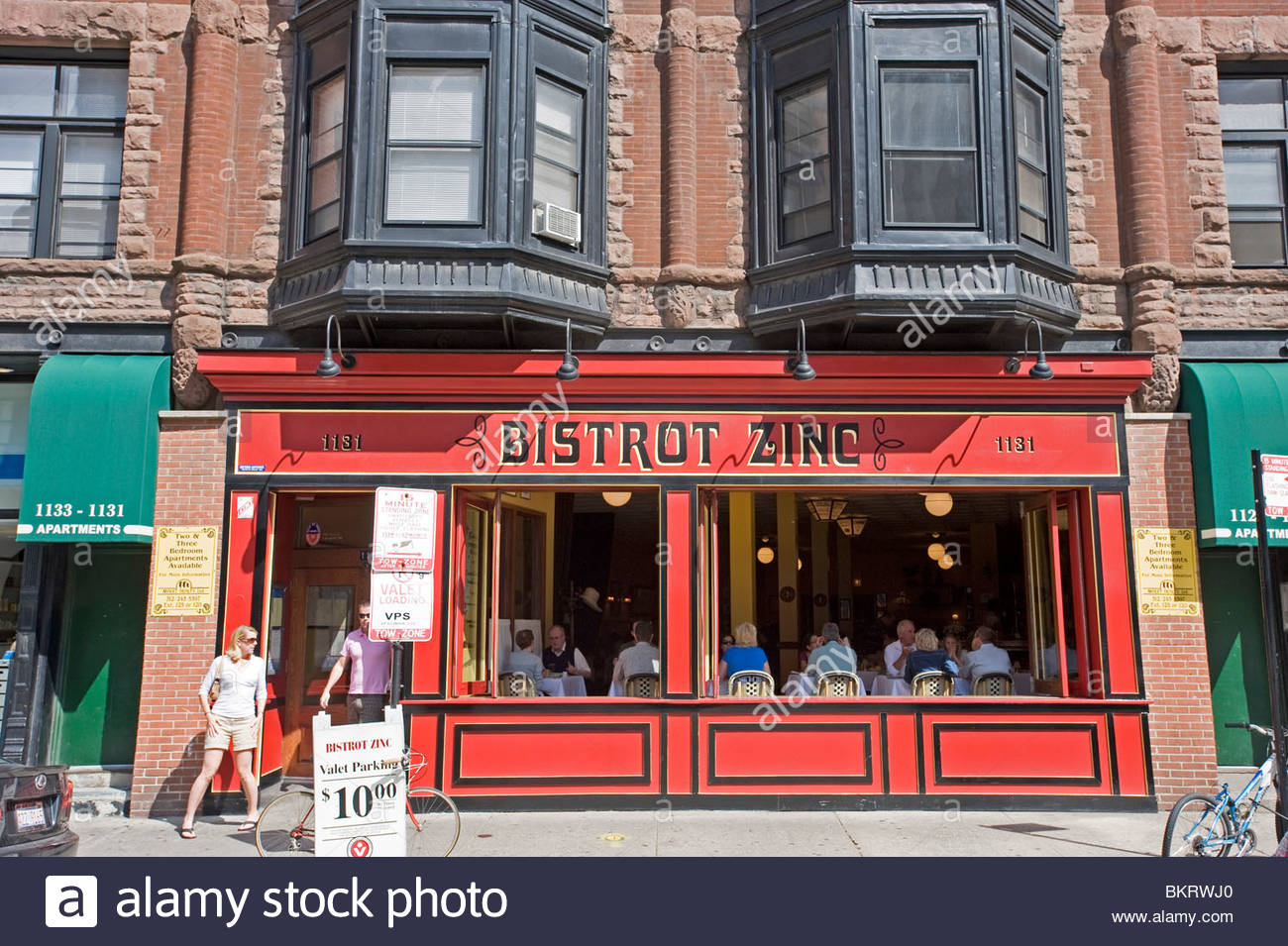 bistrot zinc in the Gold Coast area. Chicago,Illinois,Usa - Stock Image