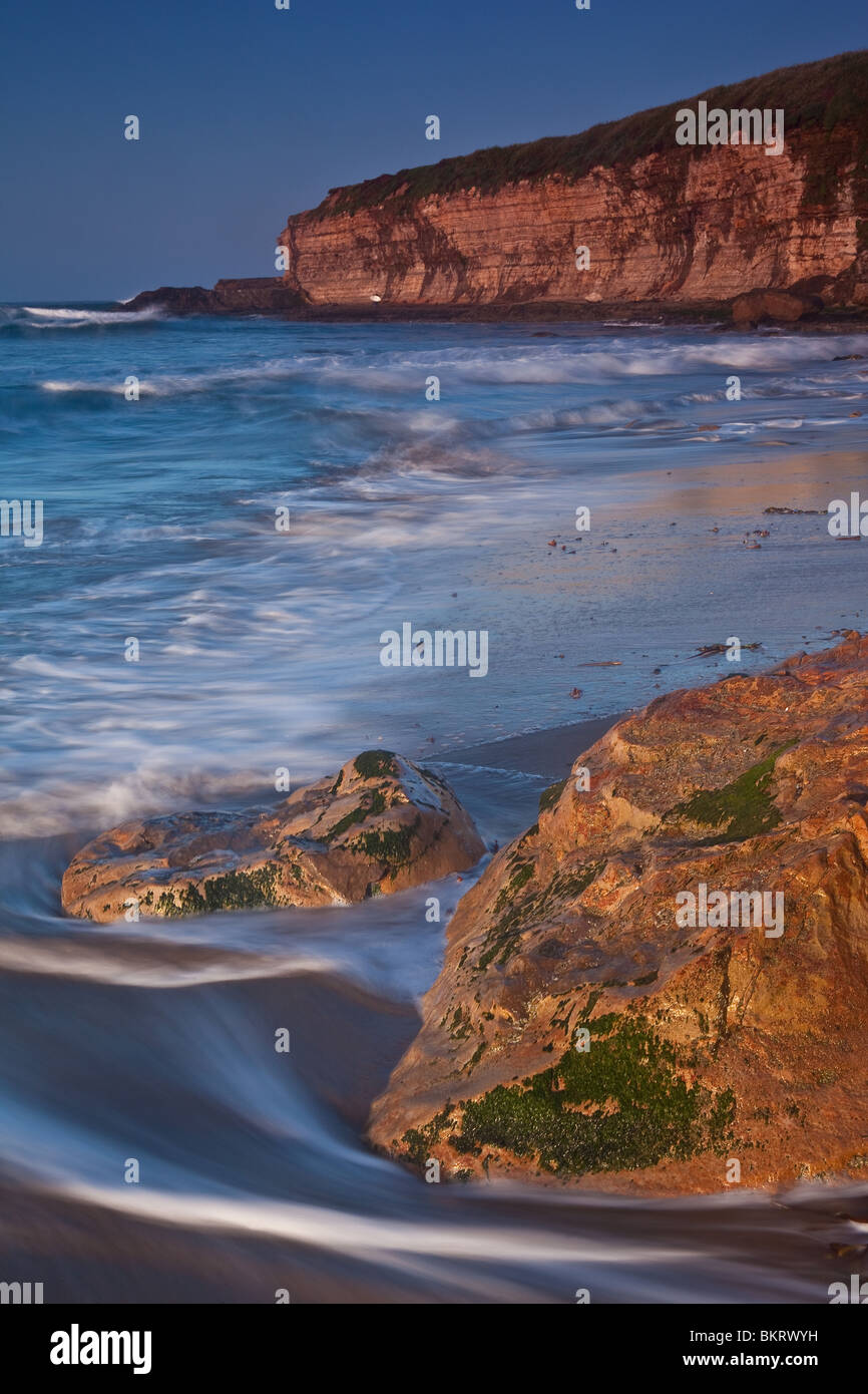Early morning at Four-mile Beach near Santa Cruz in California, USA. - Stock Image
