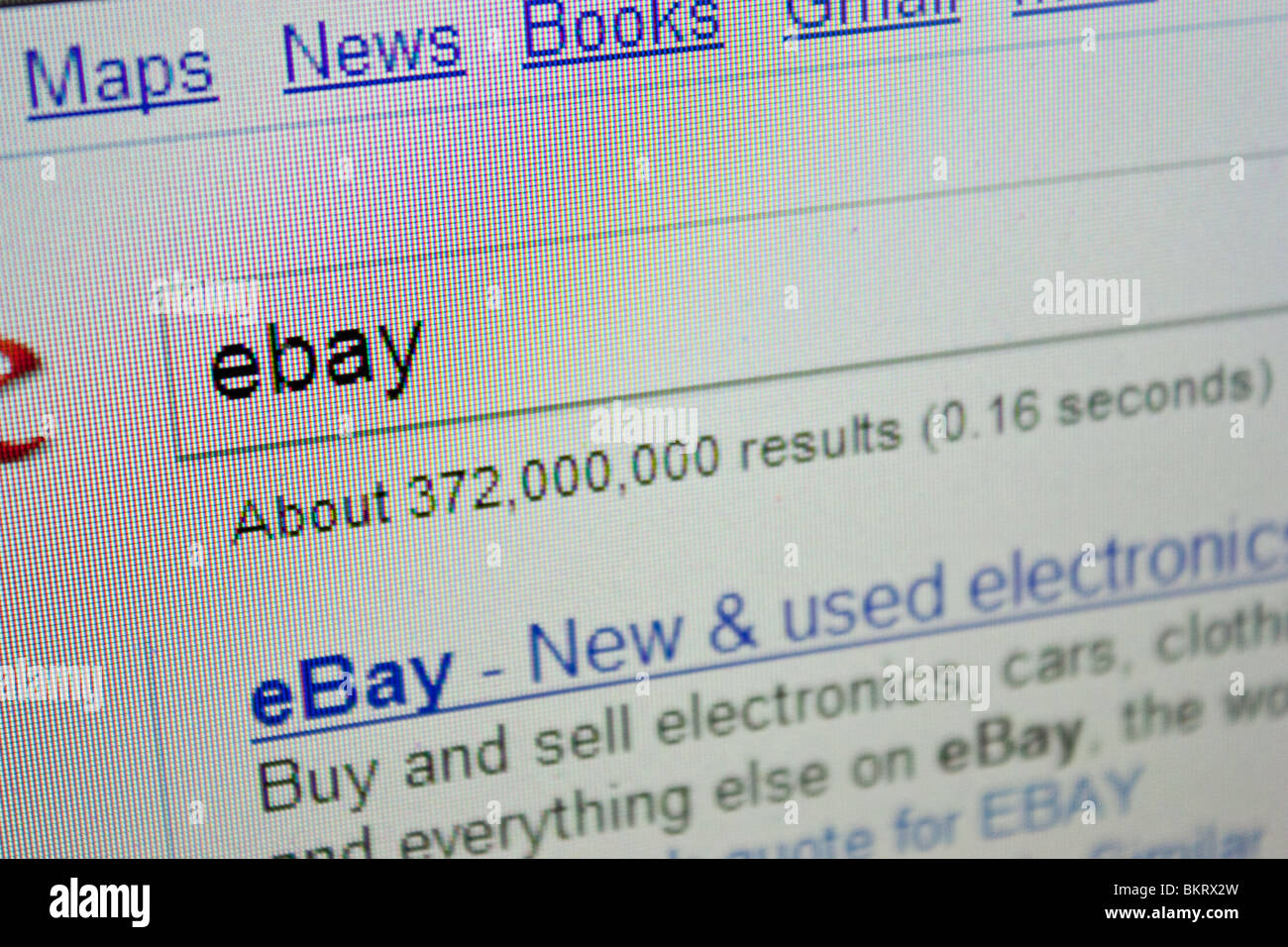 ebay auction website internet search buying - Stock Image