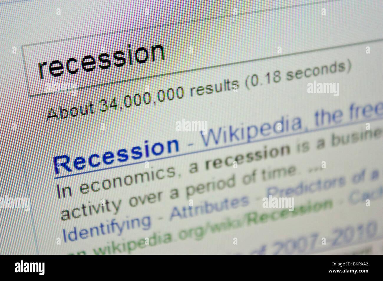 recession economy economics - Stock Image