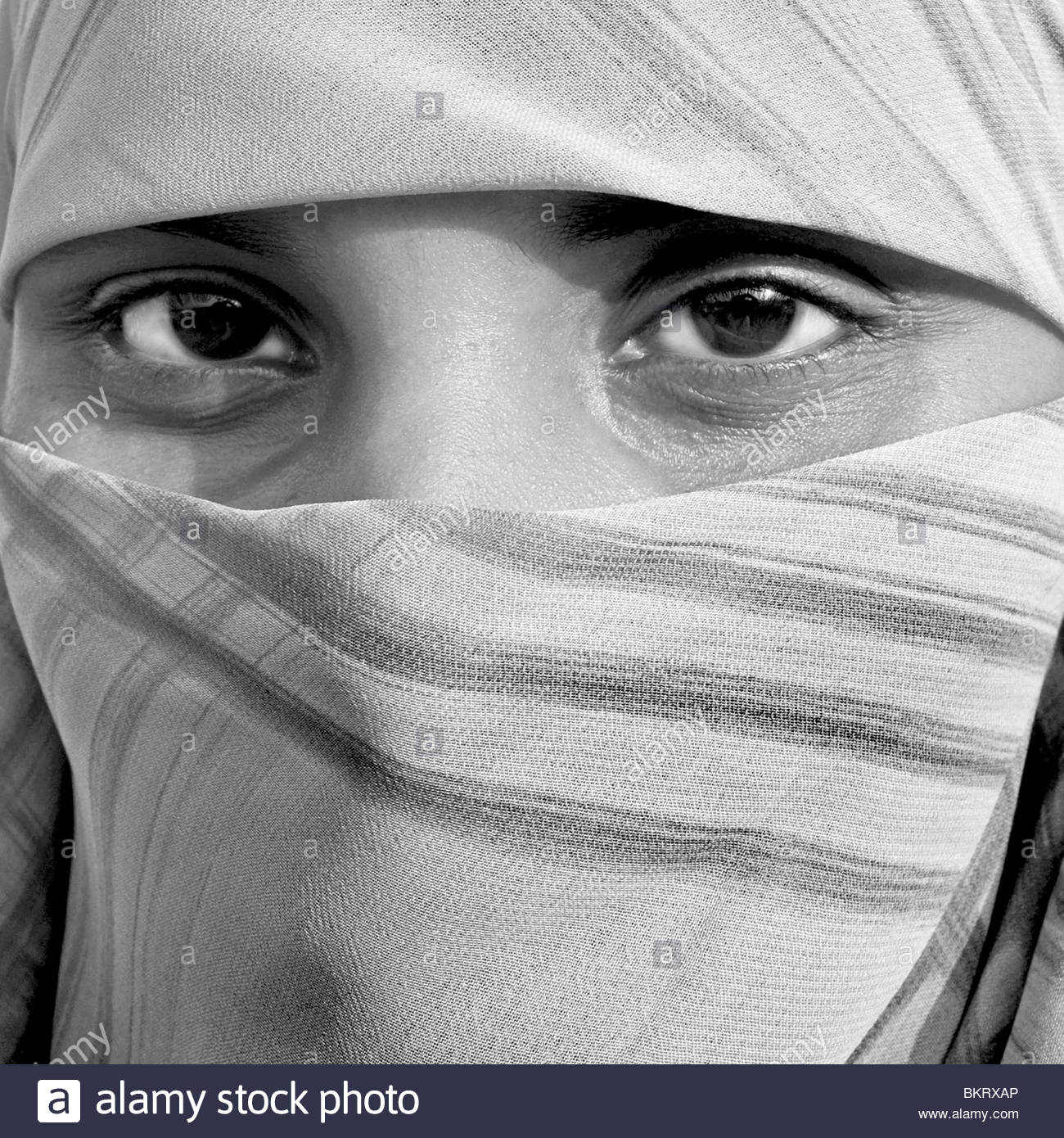 eyes of a young woman,Comilla,Bangladesh' - Stock Image