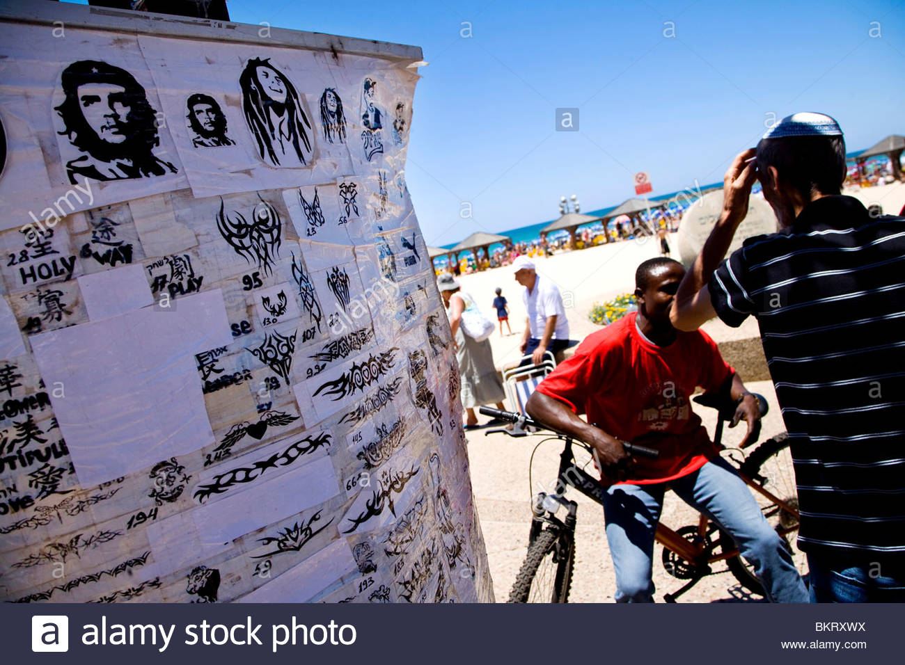 henna tattoos,Tel Aviv,Israel,Middle East,Asia - Stock Image