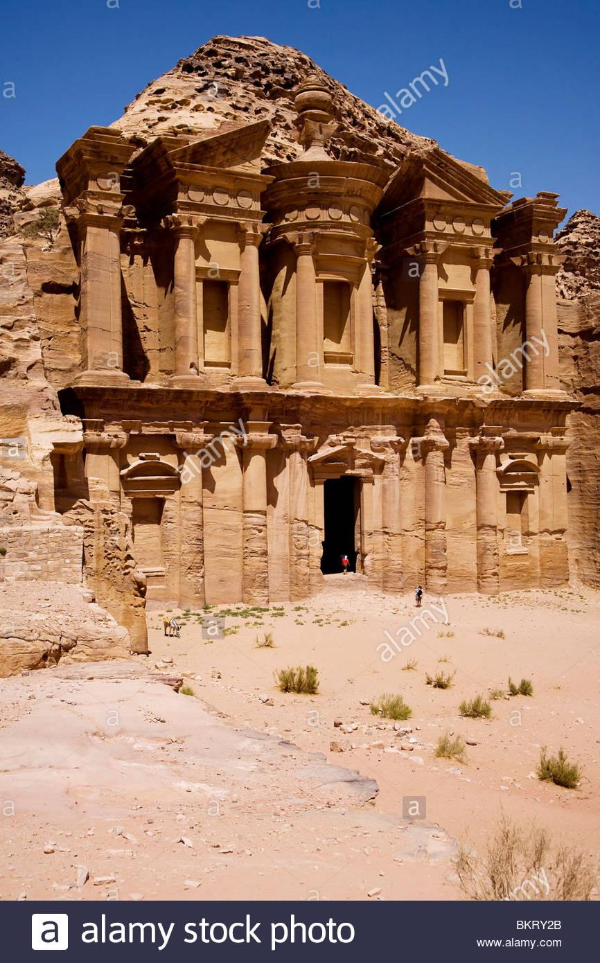 al deir,Petra,Jordan,Middle East,Asia - Stock Image