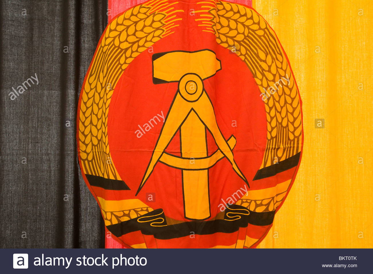 flag of the GDR,the Stasi secret center in the time of the GDR,the Stasi Museum,Berlin,Germany - Stock Image