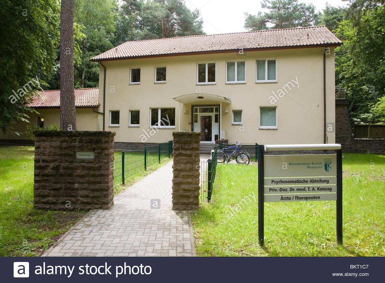 brandenburg clinic,politburos,Waldsiedlung,Brandenburg,Germany - Stock Image