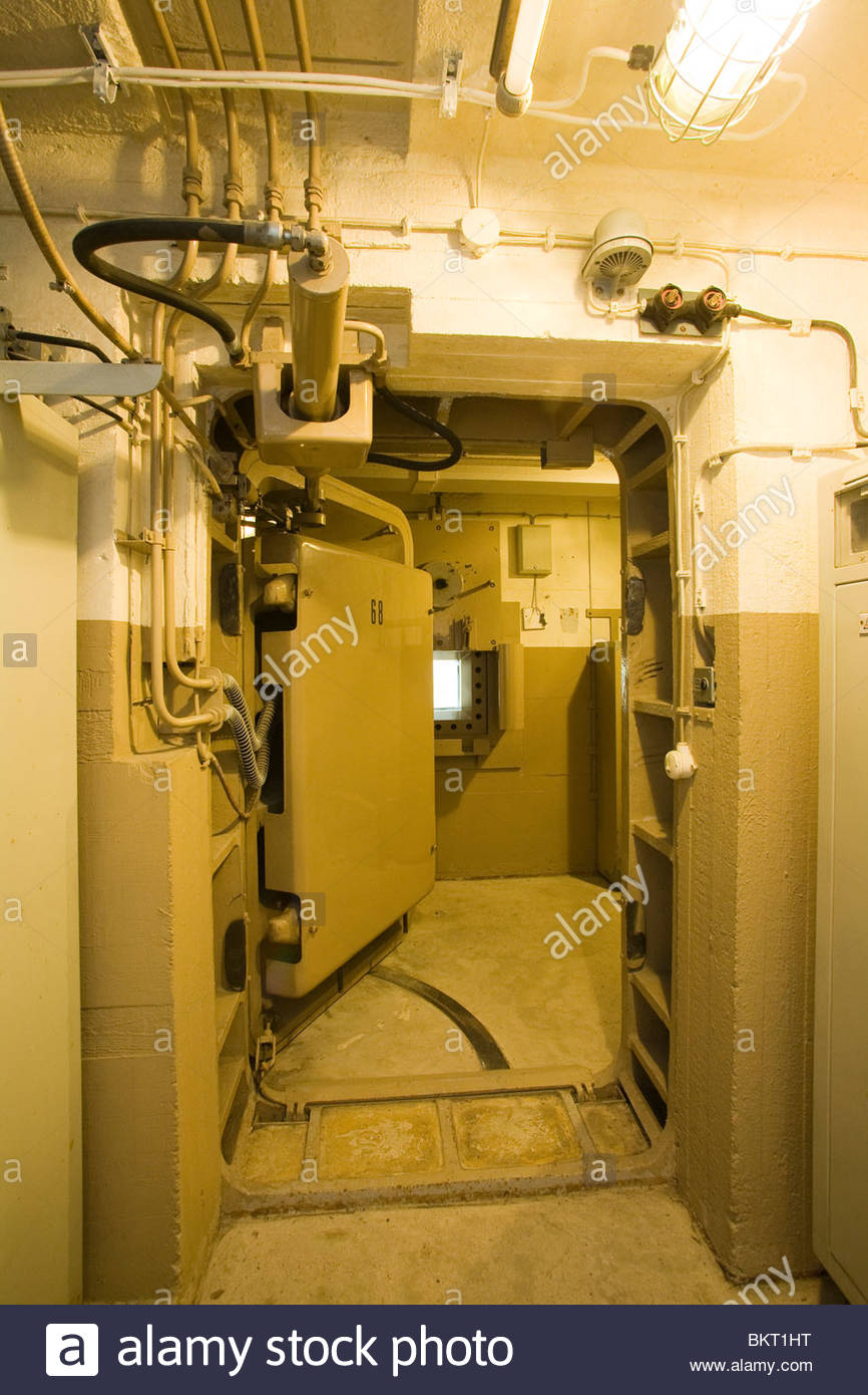 reinforced door,Regierungsbunker,Bad Neuenahr-Ahrweiler,Germany,Europe - Stock Image
