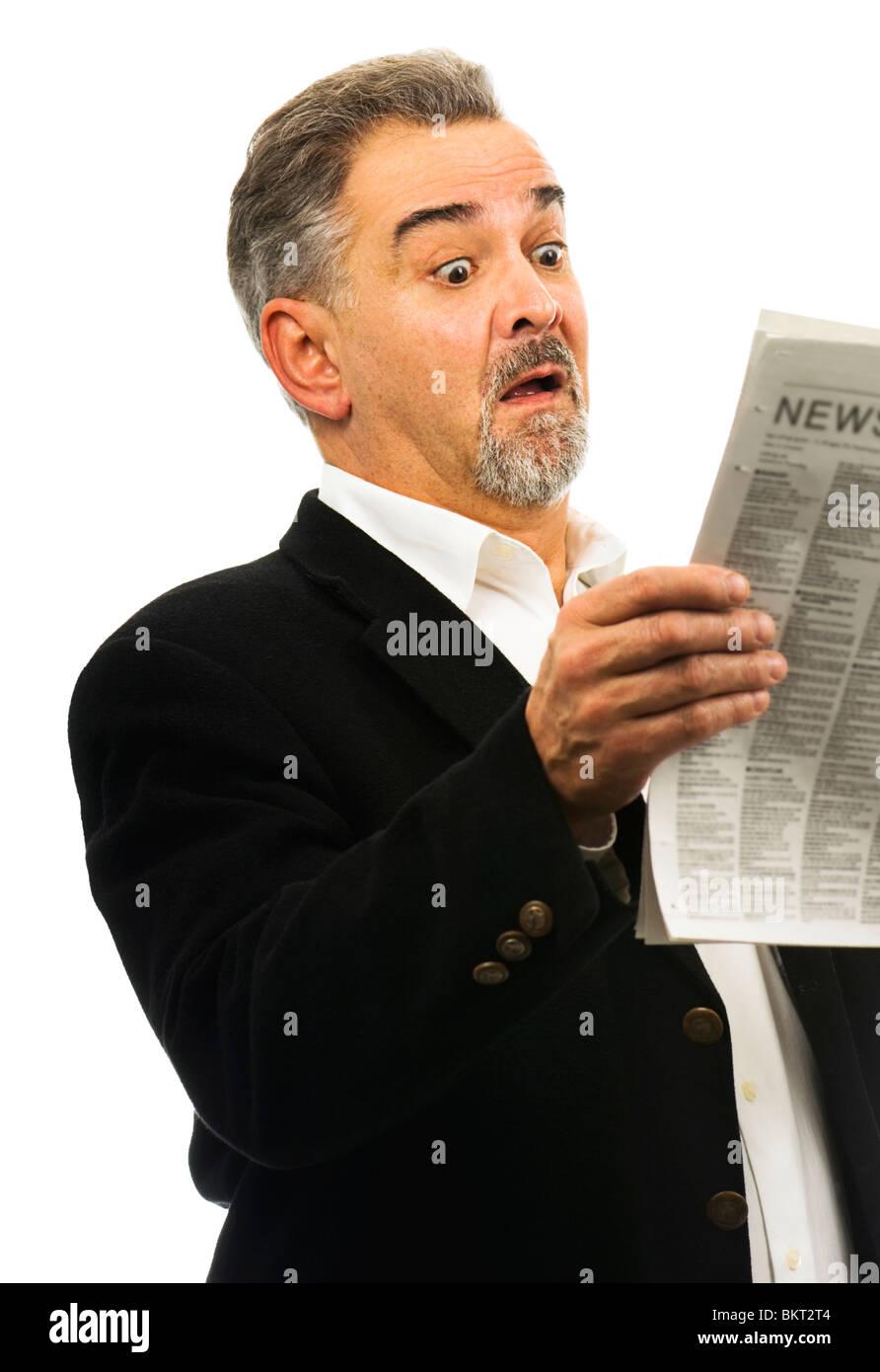 Newspaper Surprise Stock Photos & Newspaper Surprise Stock