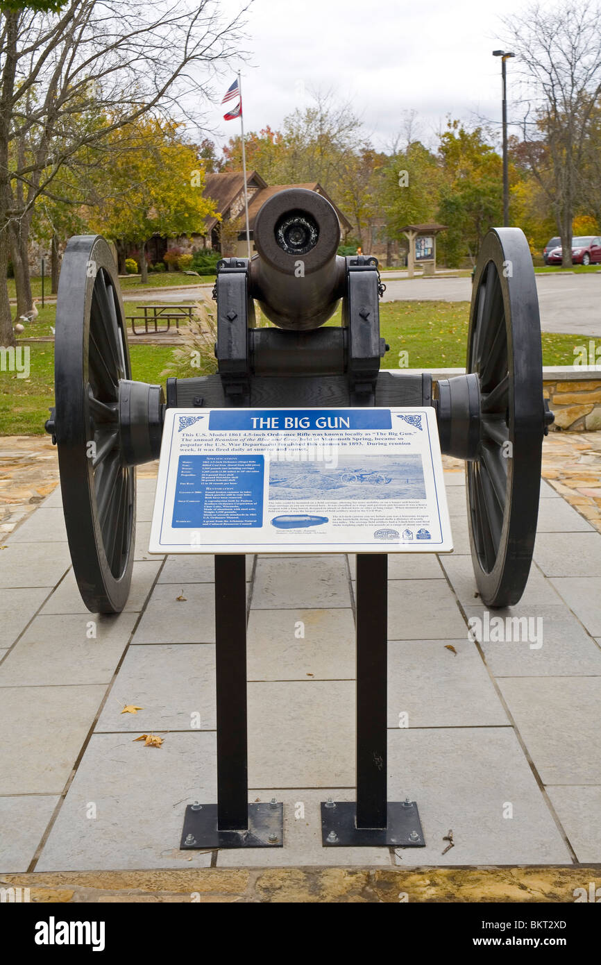 Cannon at Mammoth Spring State Park, AR - Stock Image