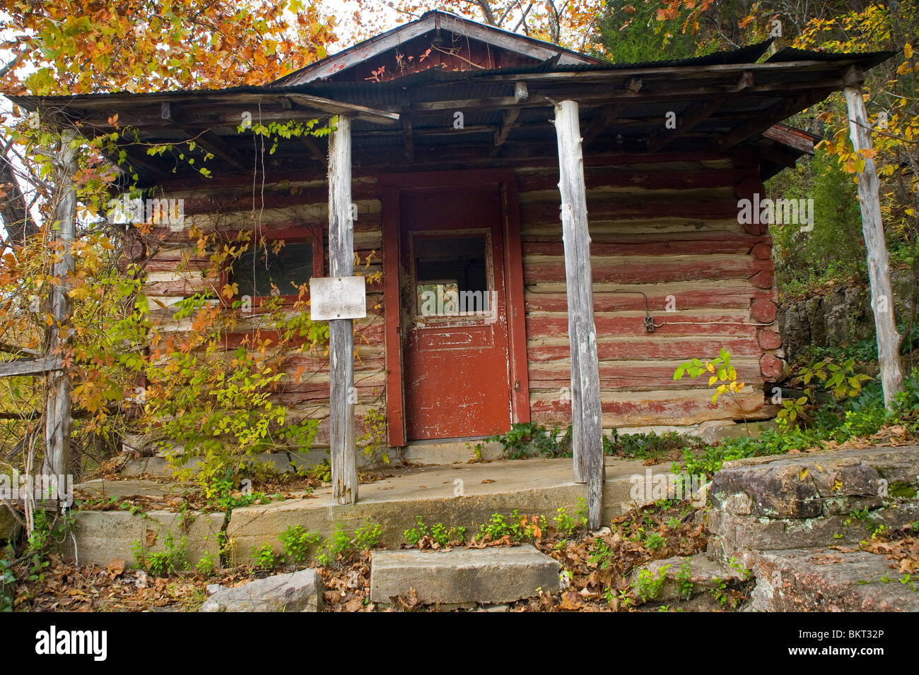 Shack at Hodgson Mill in Sycamore, MO - Stock Image