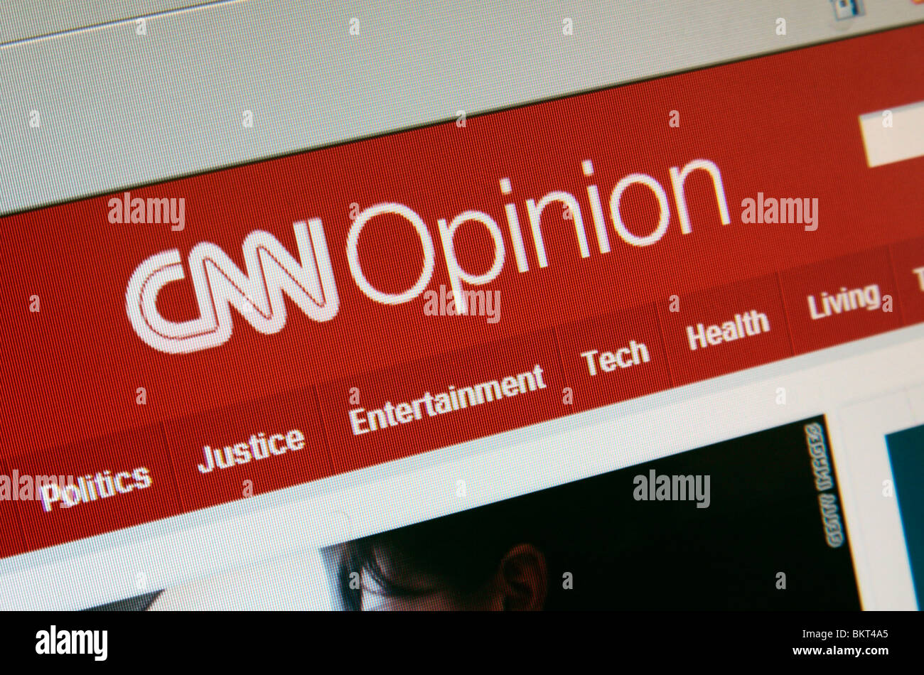 A screen shot of the Opinion page of the CNN web site. April 2010 - Stock Image