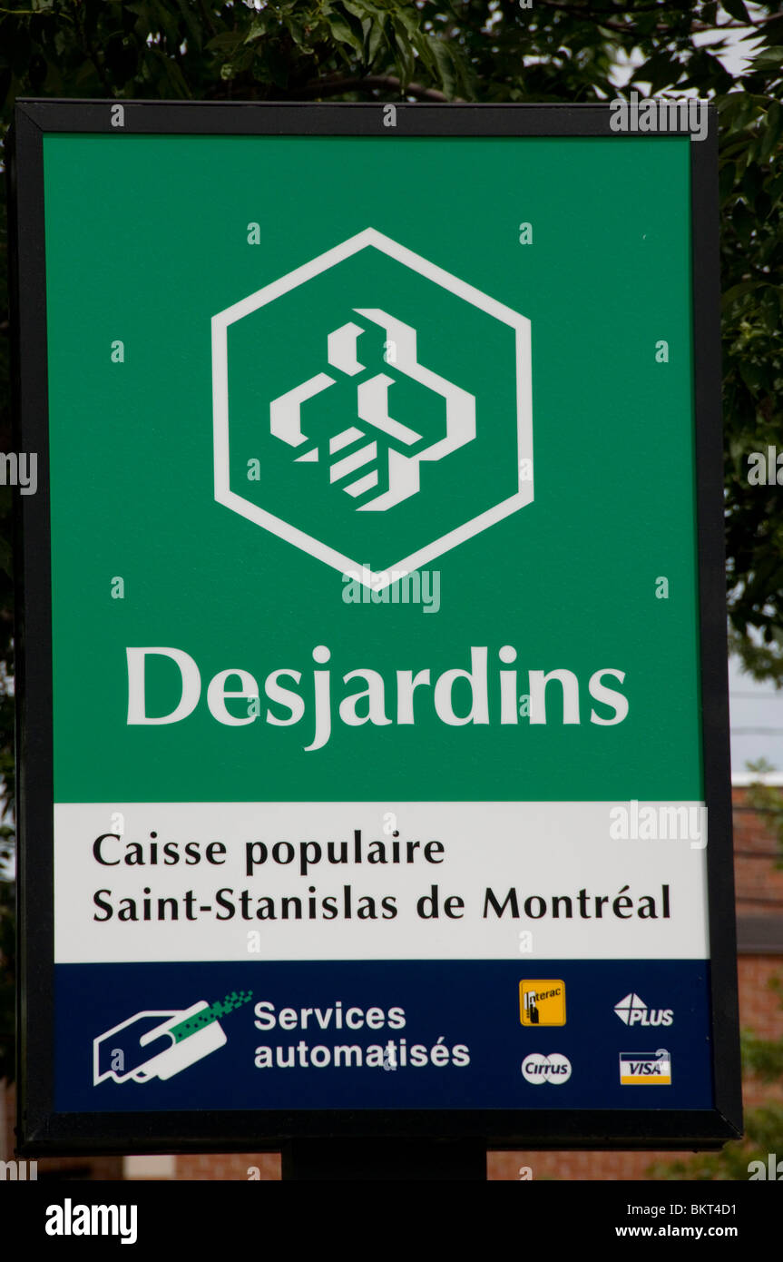 Caisse Desjardins bank Montreal Stock Photo