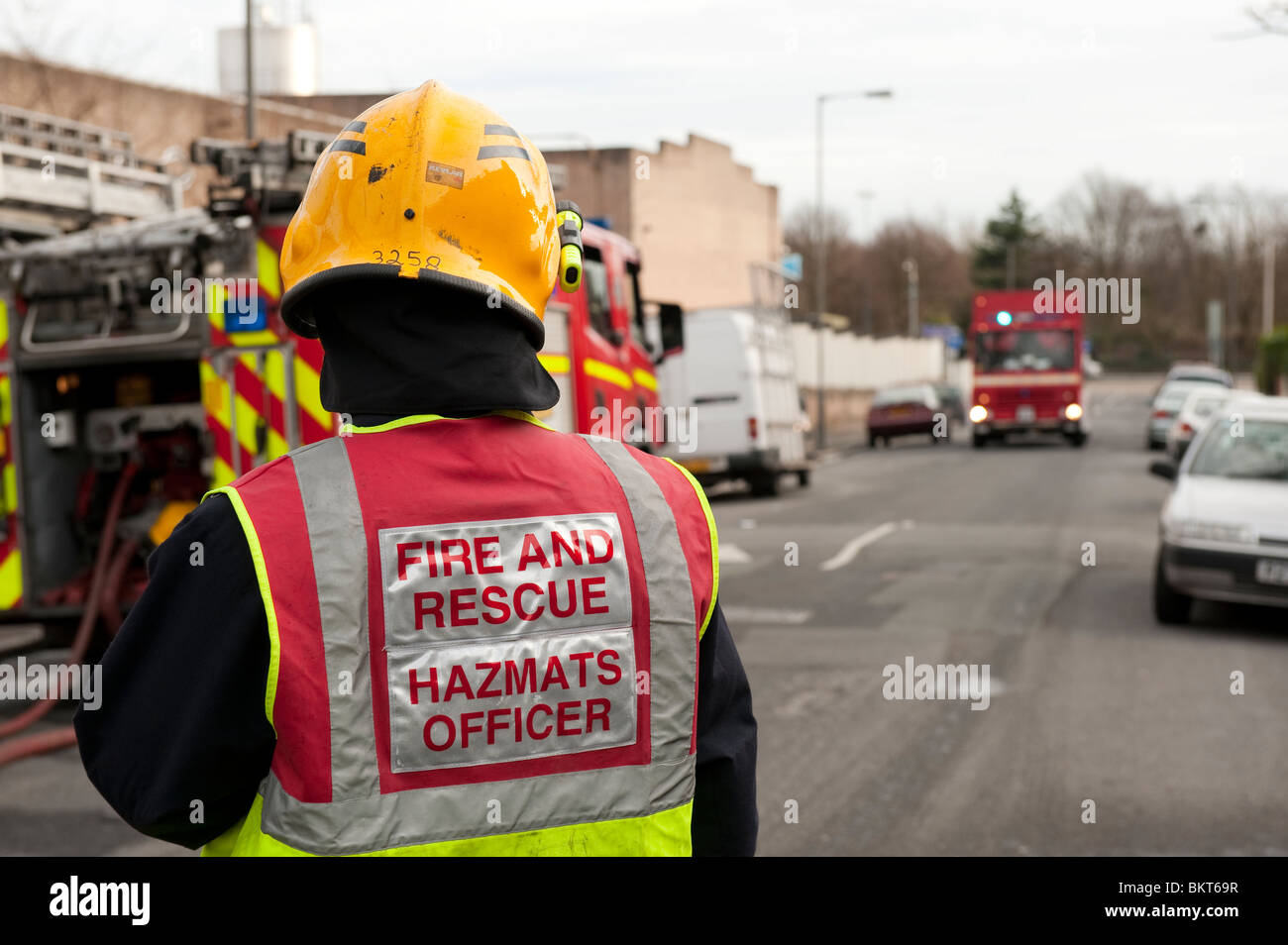 Fire and Rescue Hazmat Officer FULLY MODEL RELEASED - Stock Image