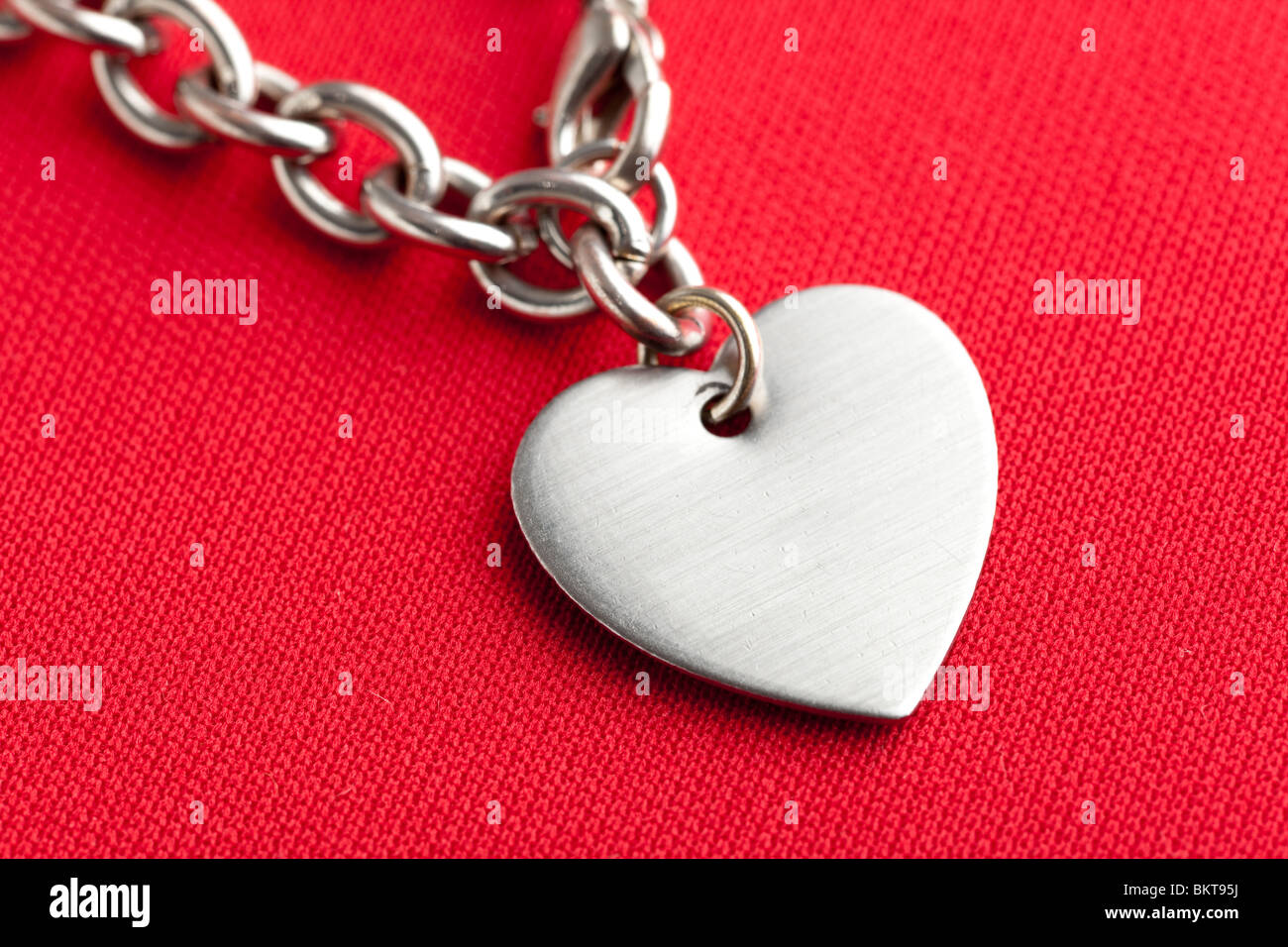 Chain and Heart Shape close up - Stock Image