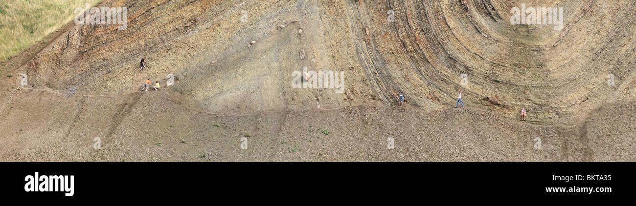 Moler earth. Moler is a fine-grained clayey diatomite - Stock Image