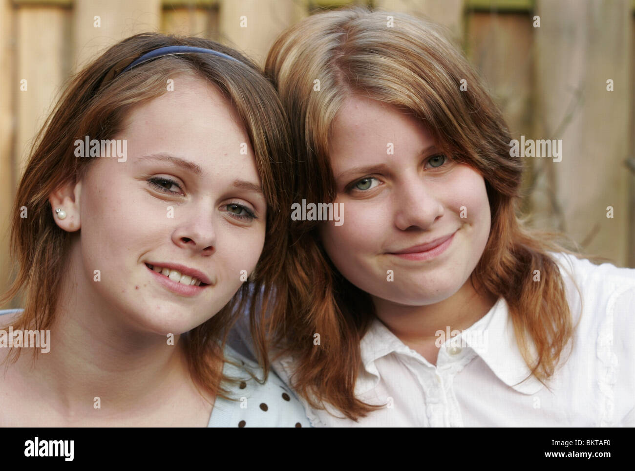 Portrait step sisters - Stock Image