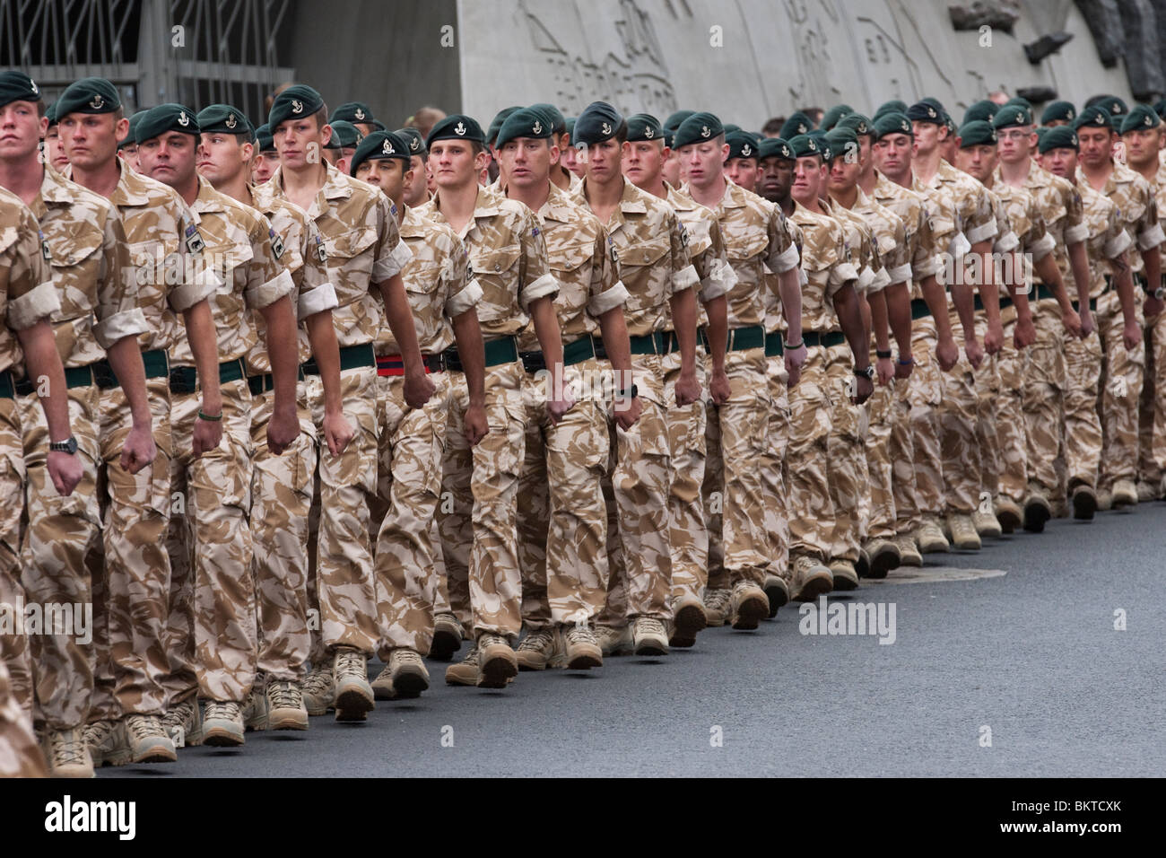Edinburgh-based soldiers return home after 6 month tour in Afghanistan. - Stock Image