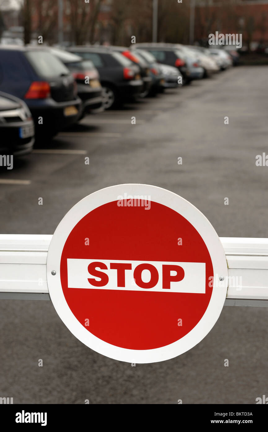 Car Park Stop Barrier - Stock Image
