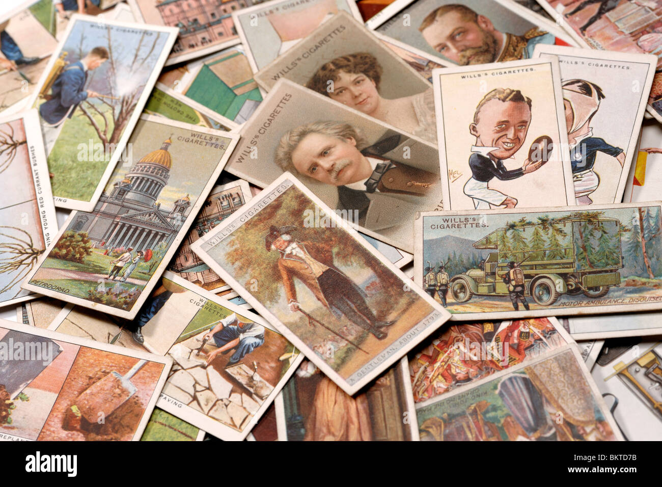 Cigarette Cards - Stock Image