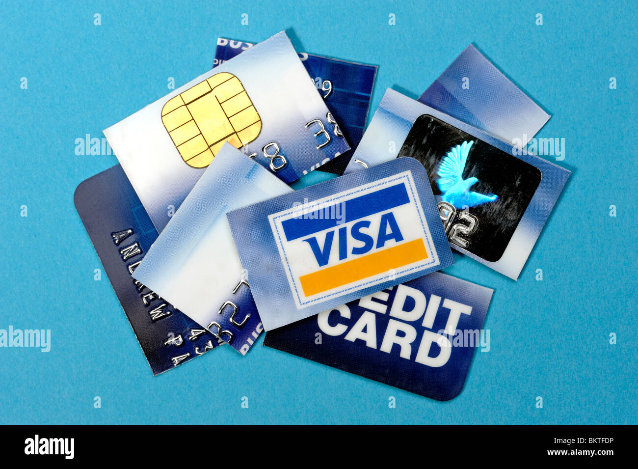 Cut up credit card - Stock Image