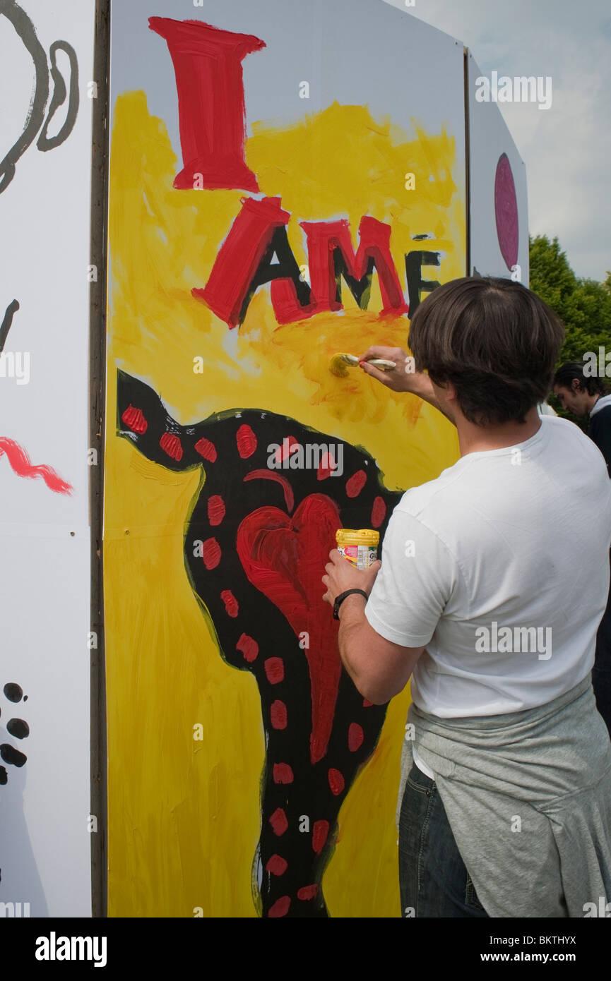 Art Festival Europe Rear Painting Wall Stock Photos & Art Festival ...