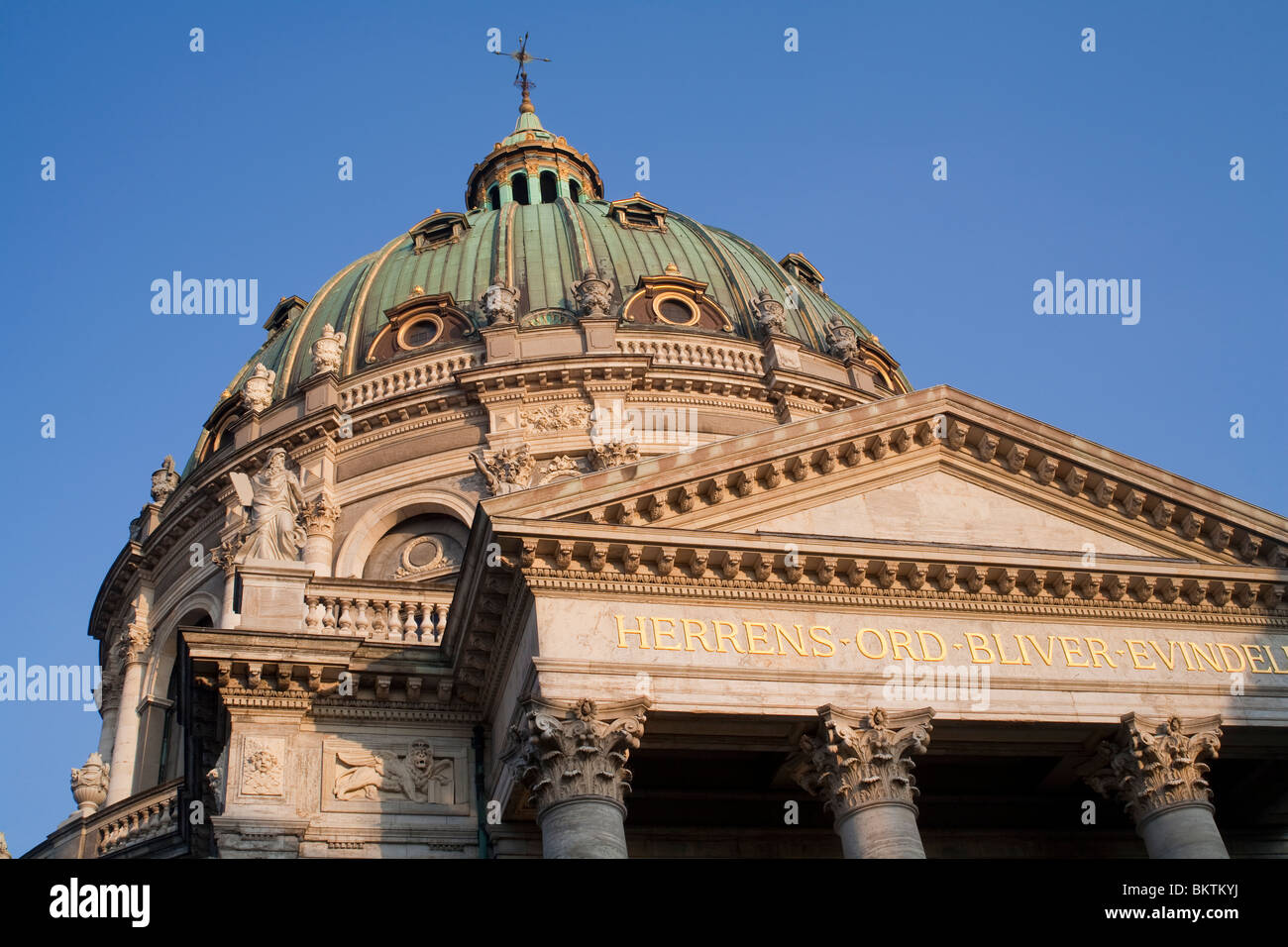 Domed roof of the Frederikskirken or Marmorkirken (Marble Church), Copenhagen - Stock Image