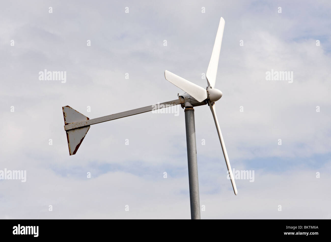 Domestic micro-wind turbine - Stock Image