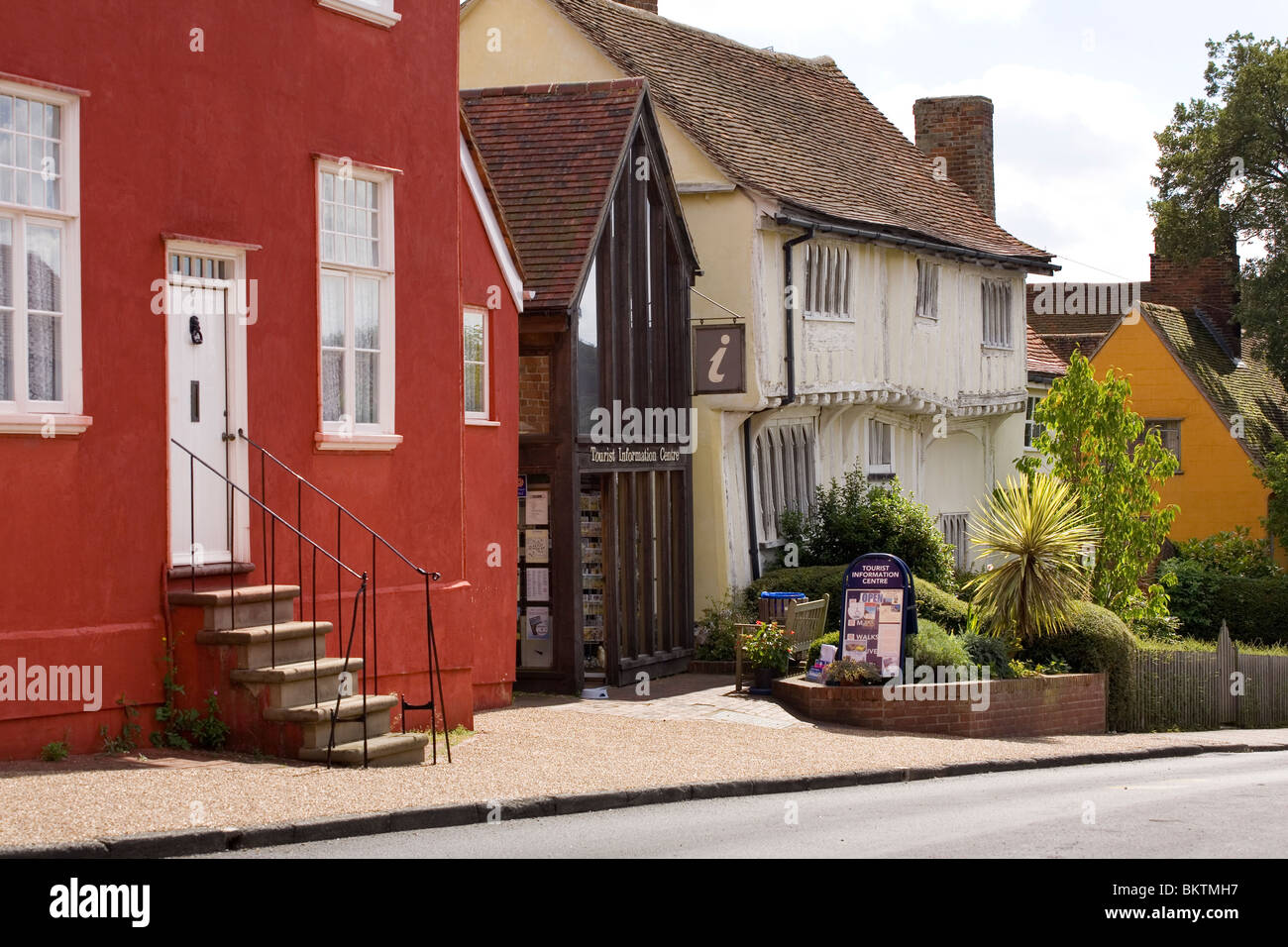 Houses on Lady Street in Lavenham, Suffolk - Stock Image