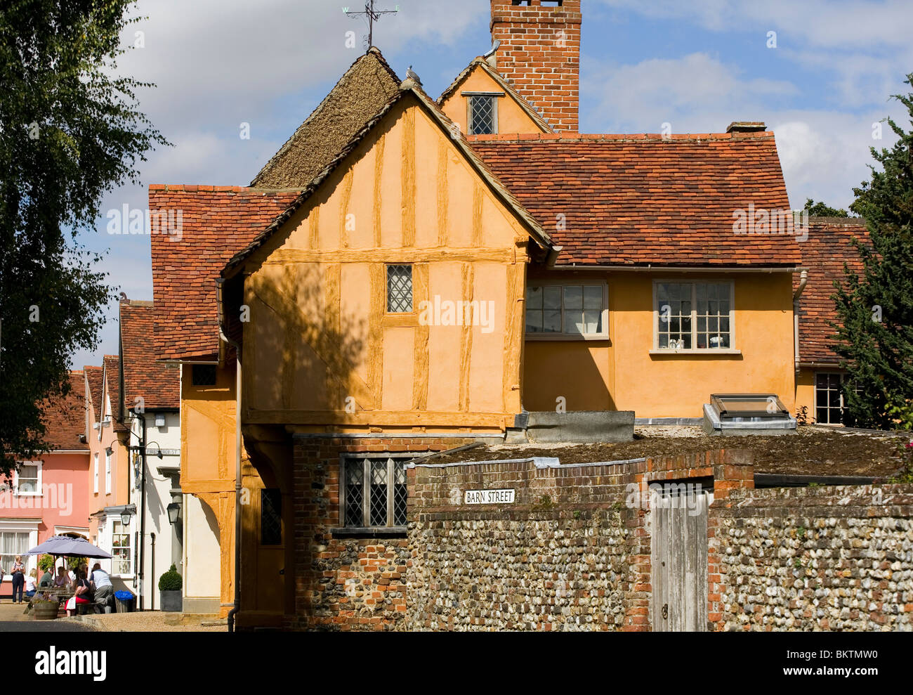Side of the Little Hall Lavenham - Stock Image