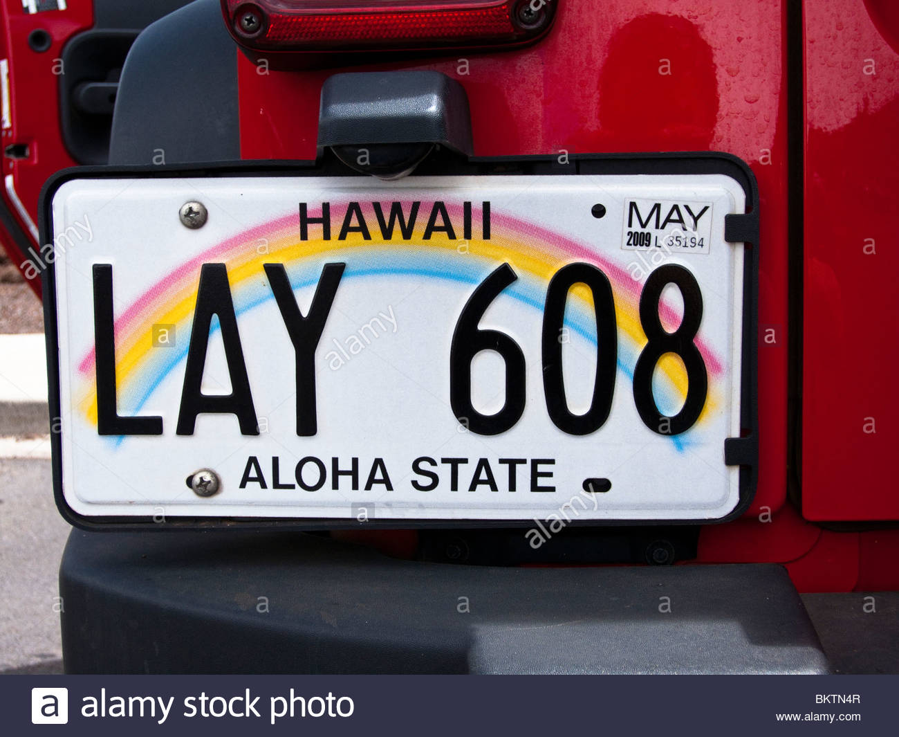 Hawaiian Lay License Plate, Lahaina, Maui, Hawaii, USA Stock Photo ...