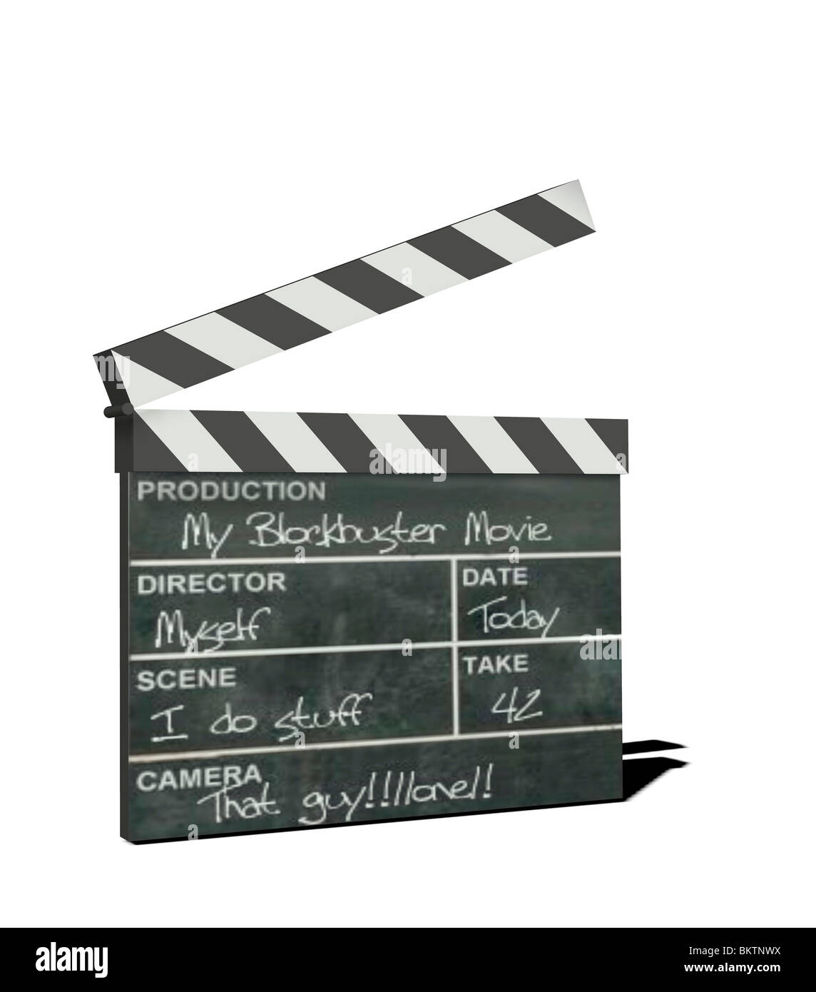 clapperboard - Stock Image