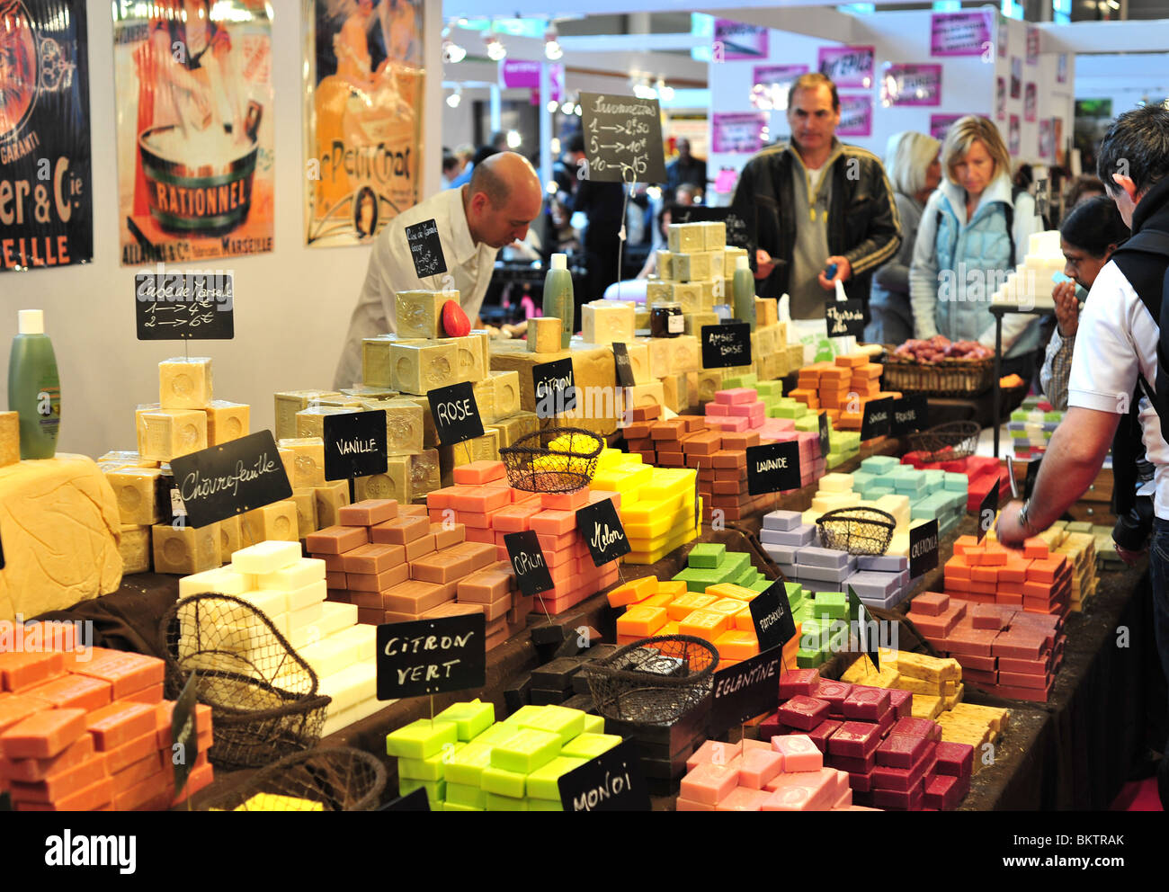 handmade natural soap shop, Paris fair 2010 Stock Photo
