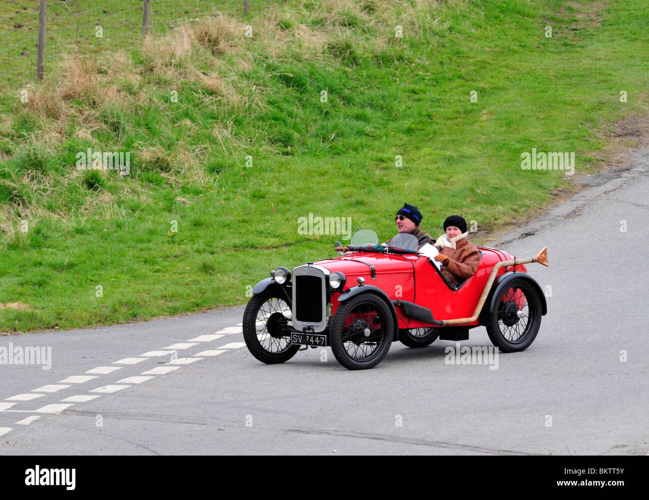 1930 Austin seven ULSTER REP. Vintage Cars ON THE OPEN ROAD. - Stock Image