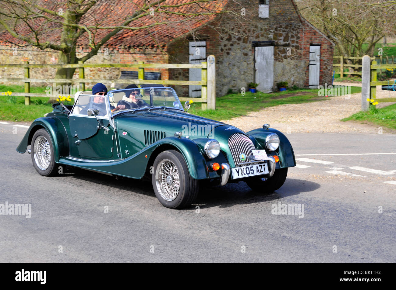 ON THE OPEN ROAD. MORGAN ROADSTER - Stock Image