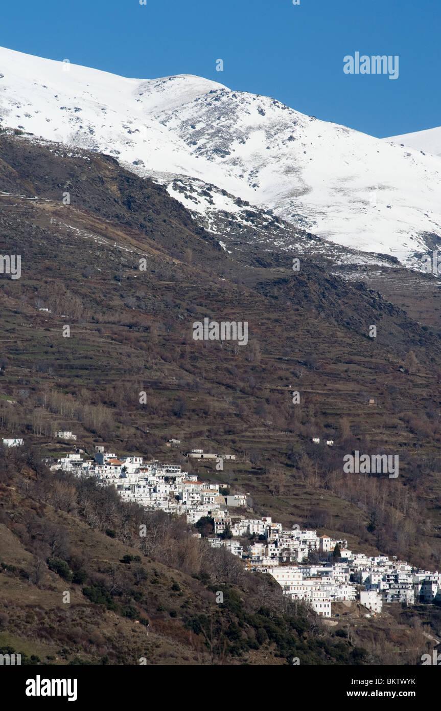 The village of Travelez, the highest Spanish conurbation, in the Alpujarras mountains. - Stock Image