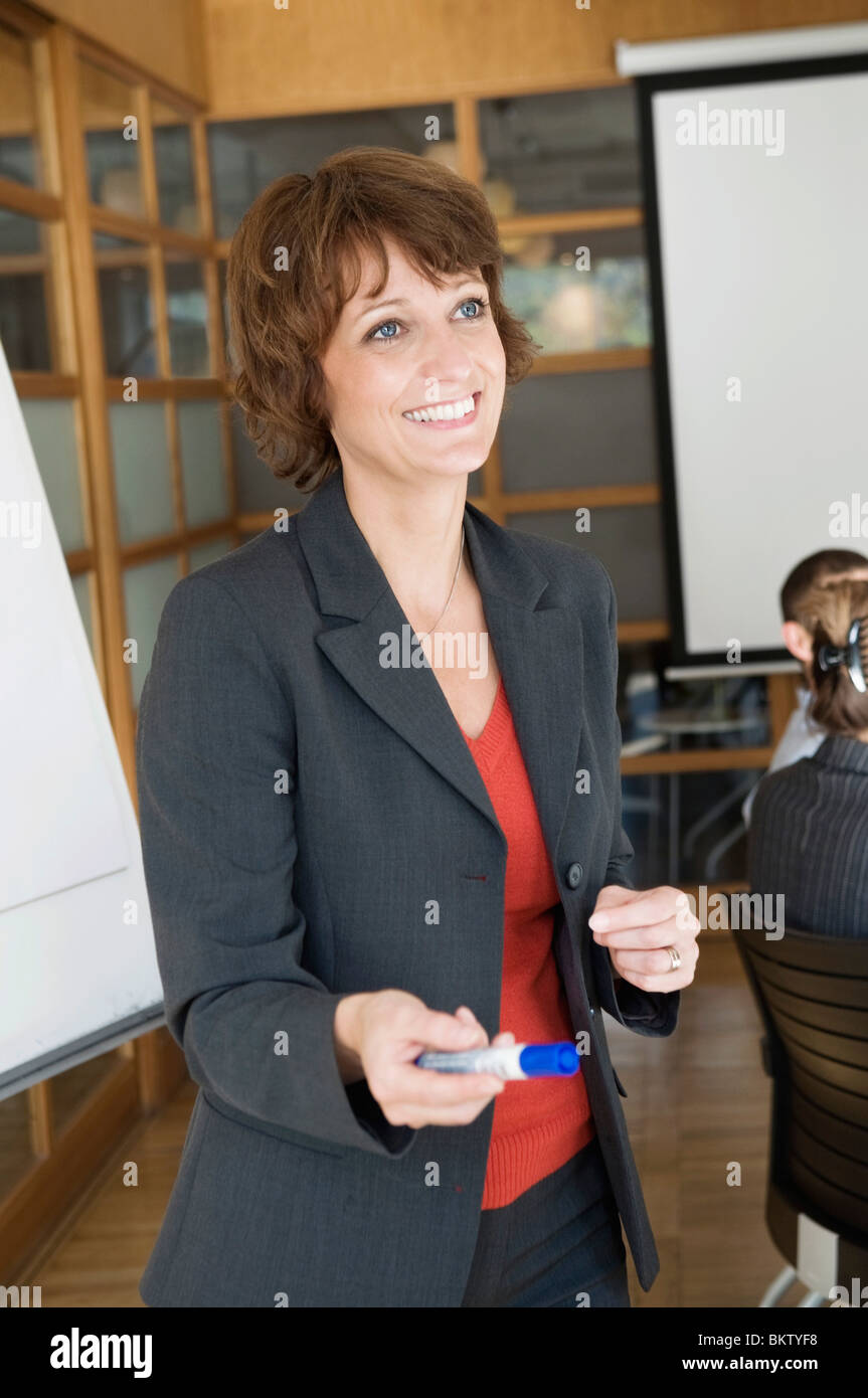 Woman teach - Stock Image
