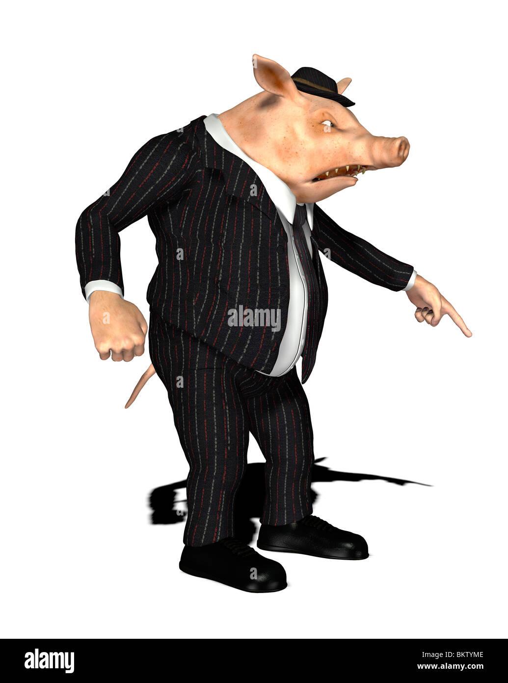 nonserious grubby salesman Stock Photo