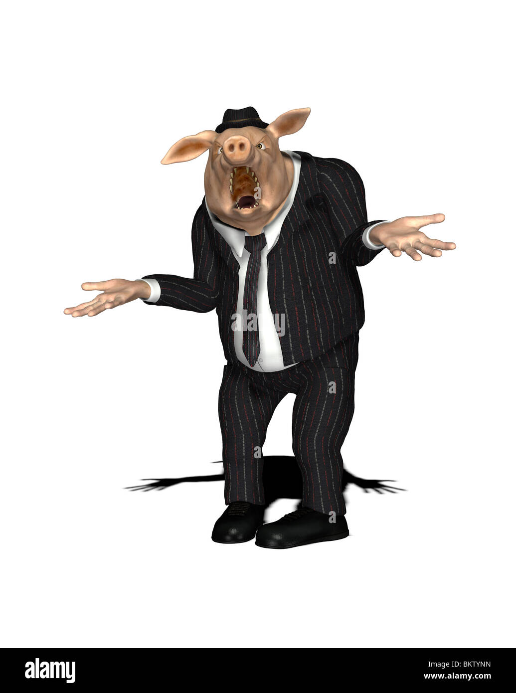 nonserious grubby salesman - Stock Image