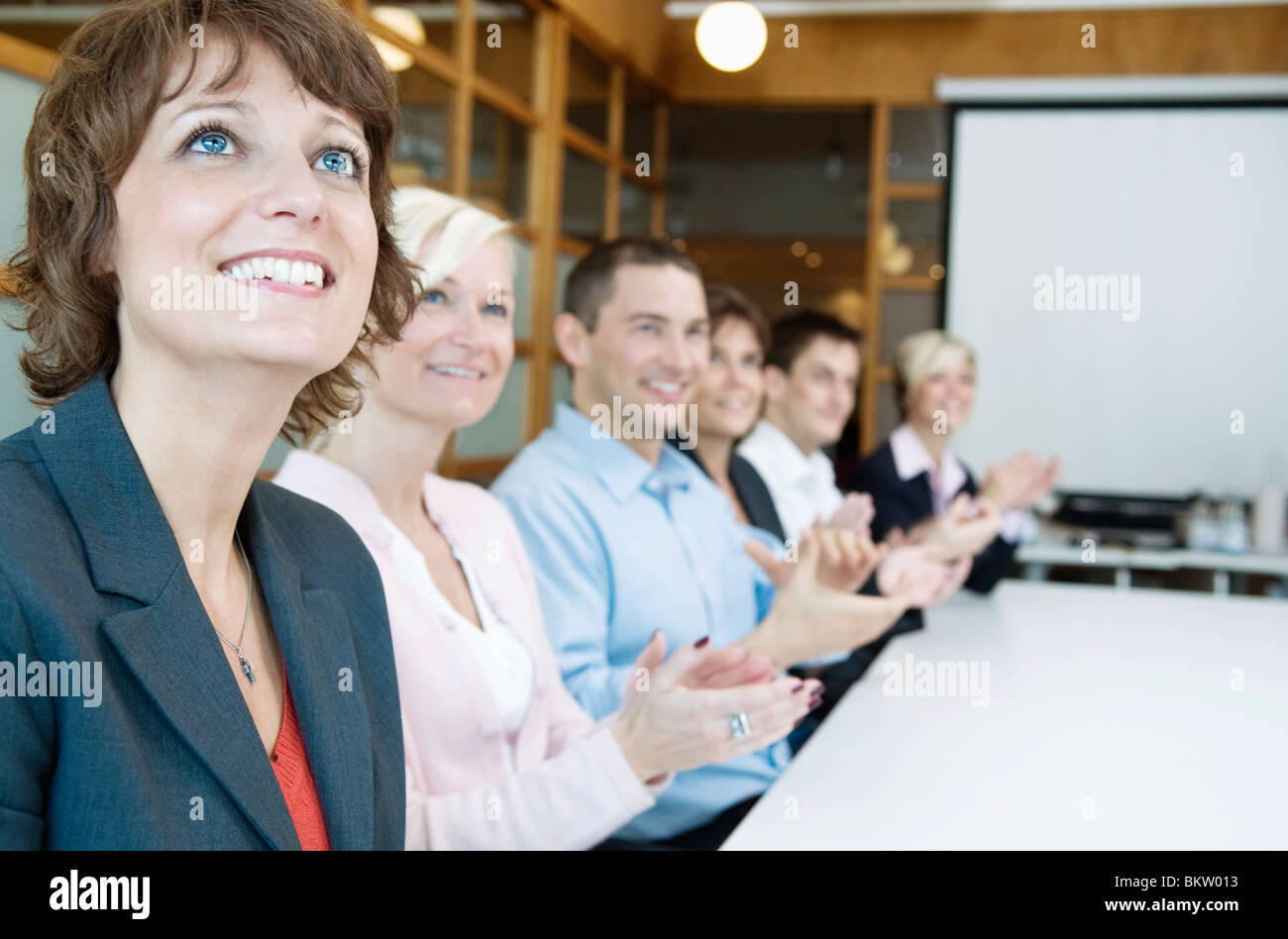 Clapping one's hands - Stock Image