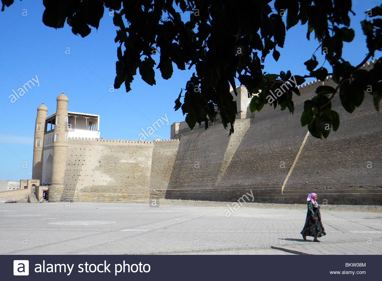 The wall,Bukhara,Uzbekistan Stock Photo