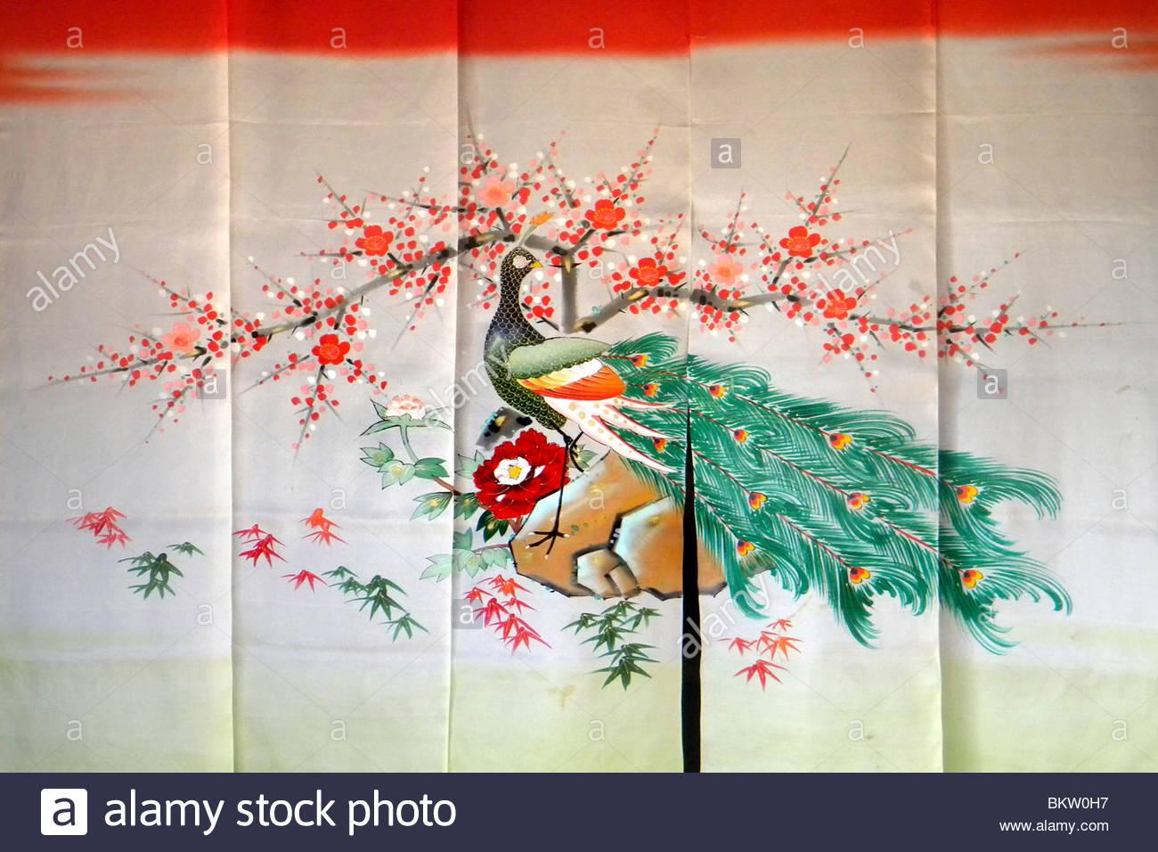 kimono detail,Shirakawa,Japan - Stock Image