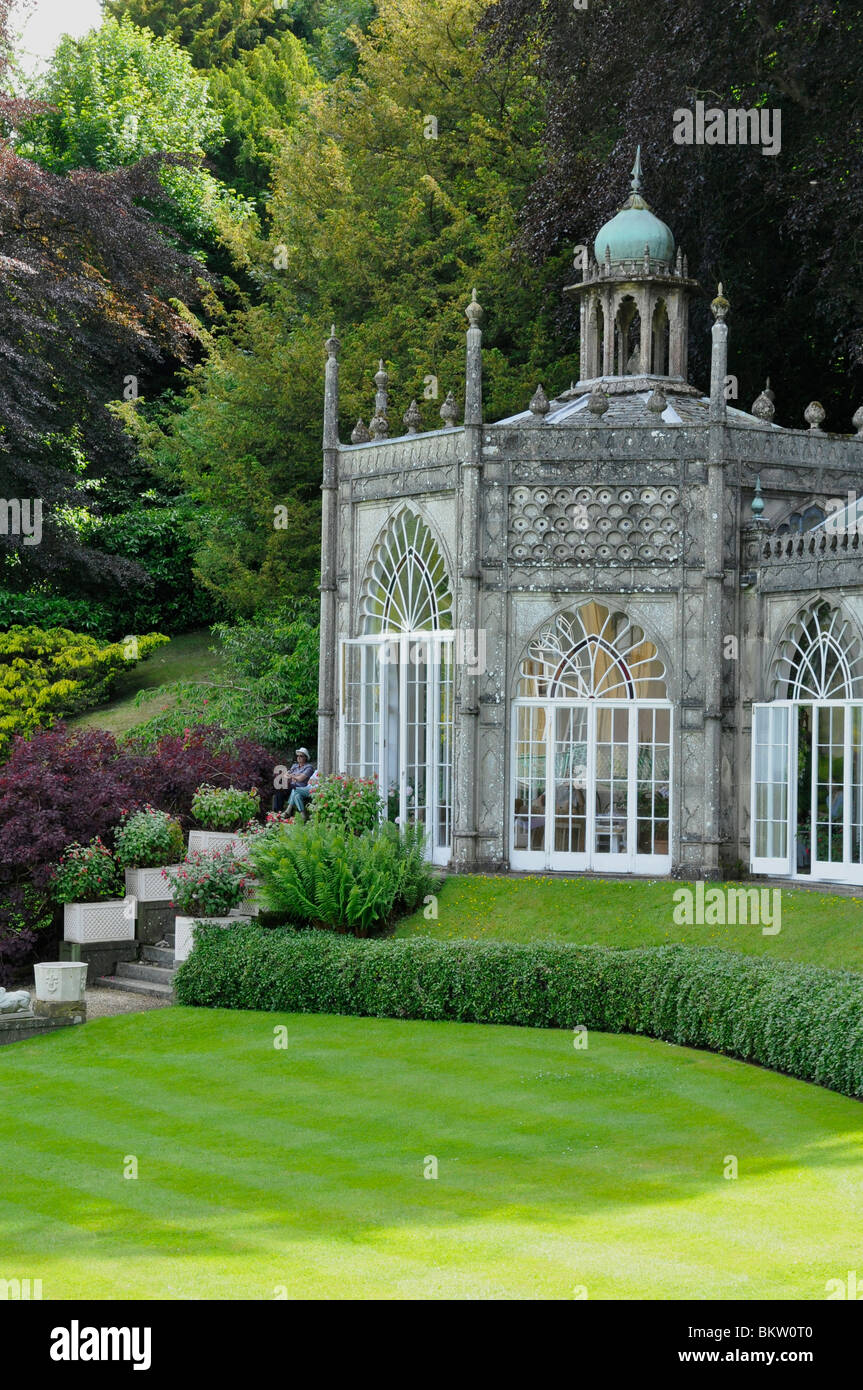 Conservatory / Pavillion at Sezincote House, Cotswolds, Gloucestershire - Stock Image