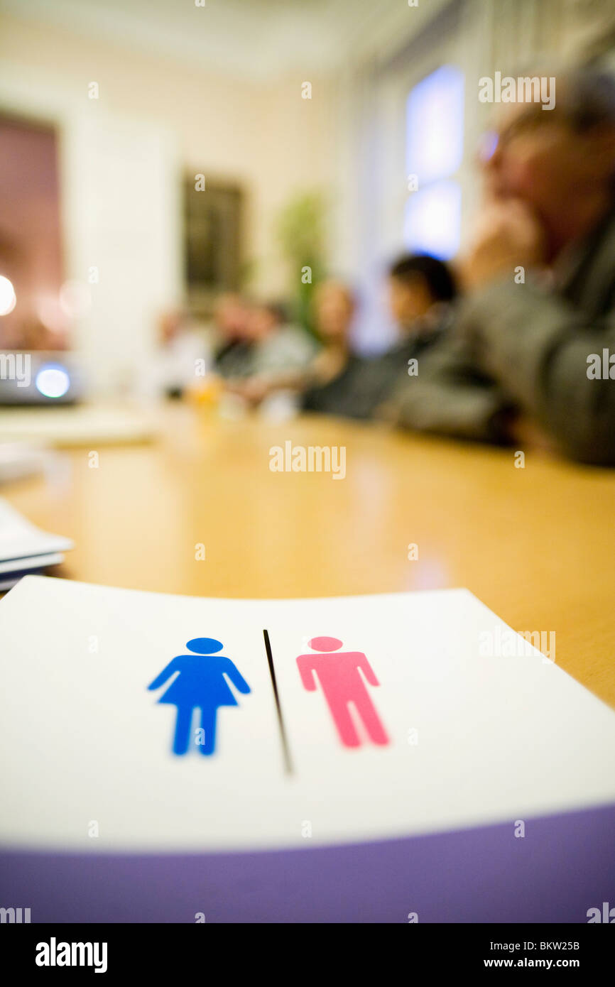 Meeting with grown ups - Stock Image