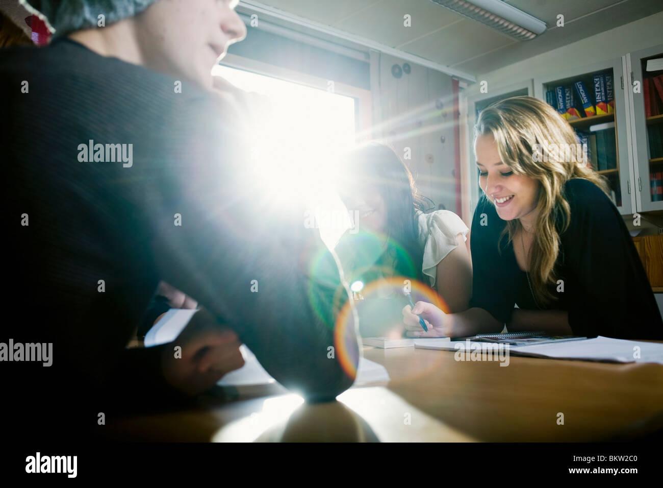 Teamwork in the light - Stock Image