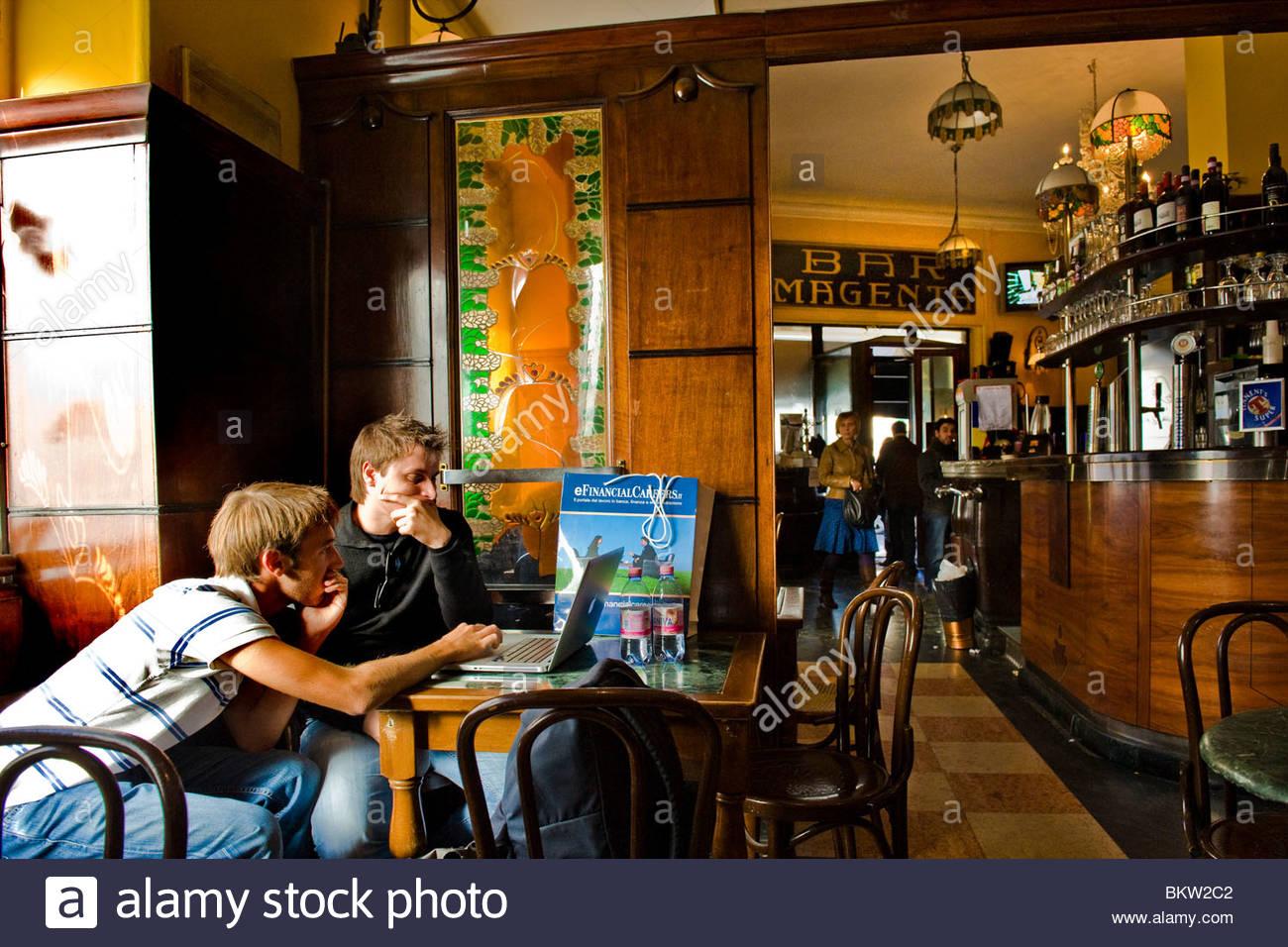 bar magenta,milan,lombardia,italy - Stock Image