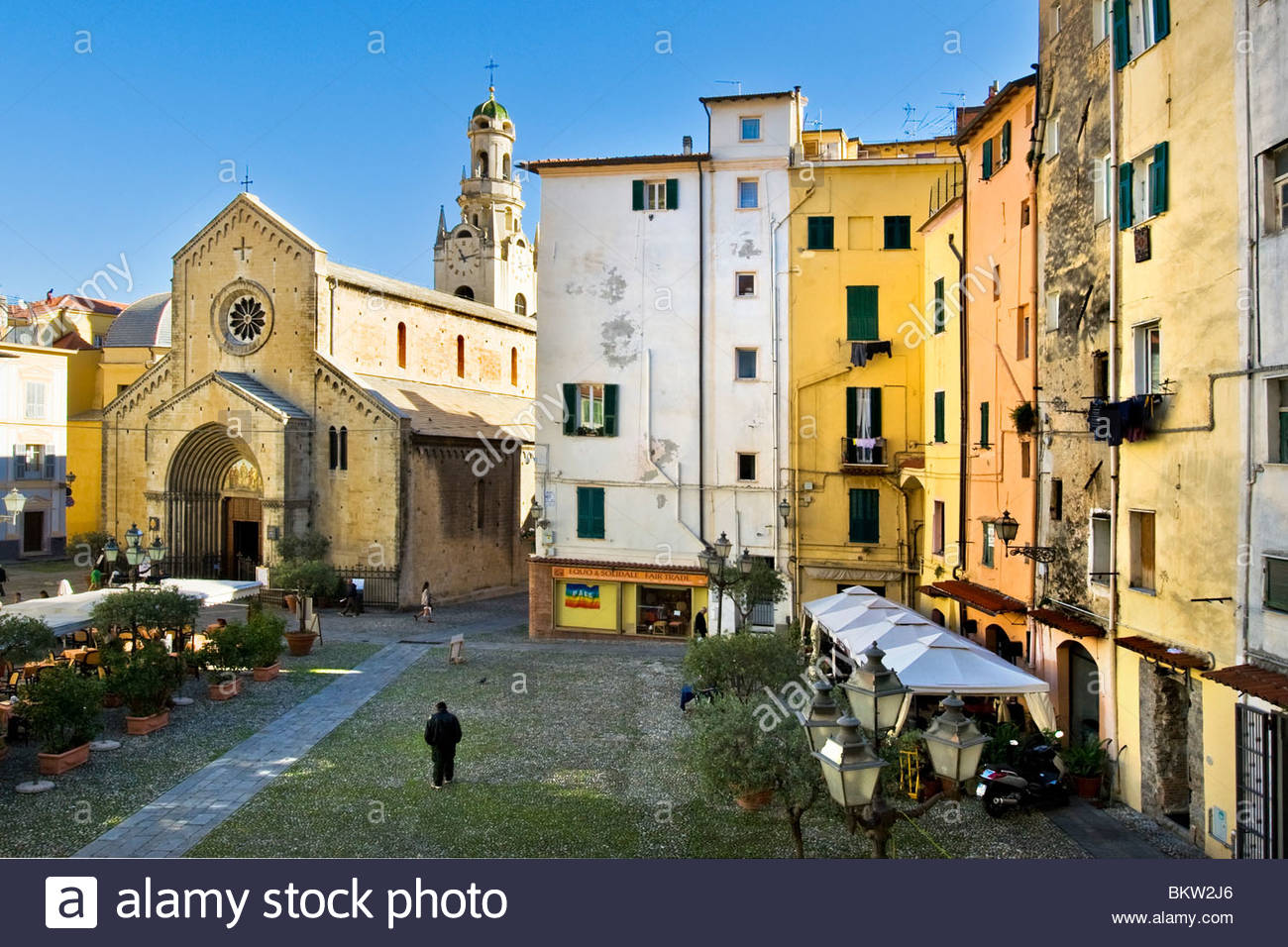 san siro cathedral,sanremo,liguria,italy Stock Photo